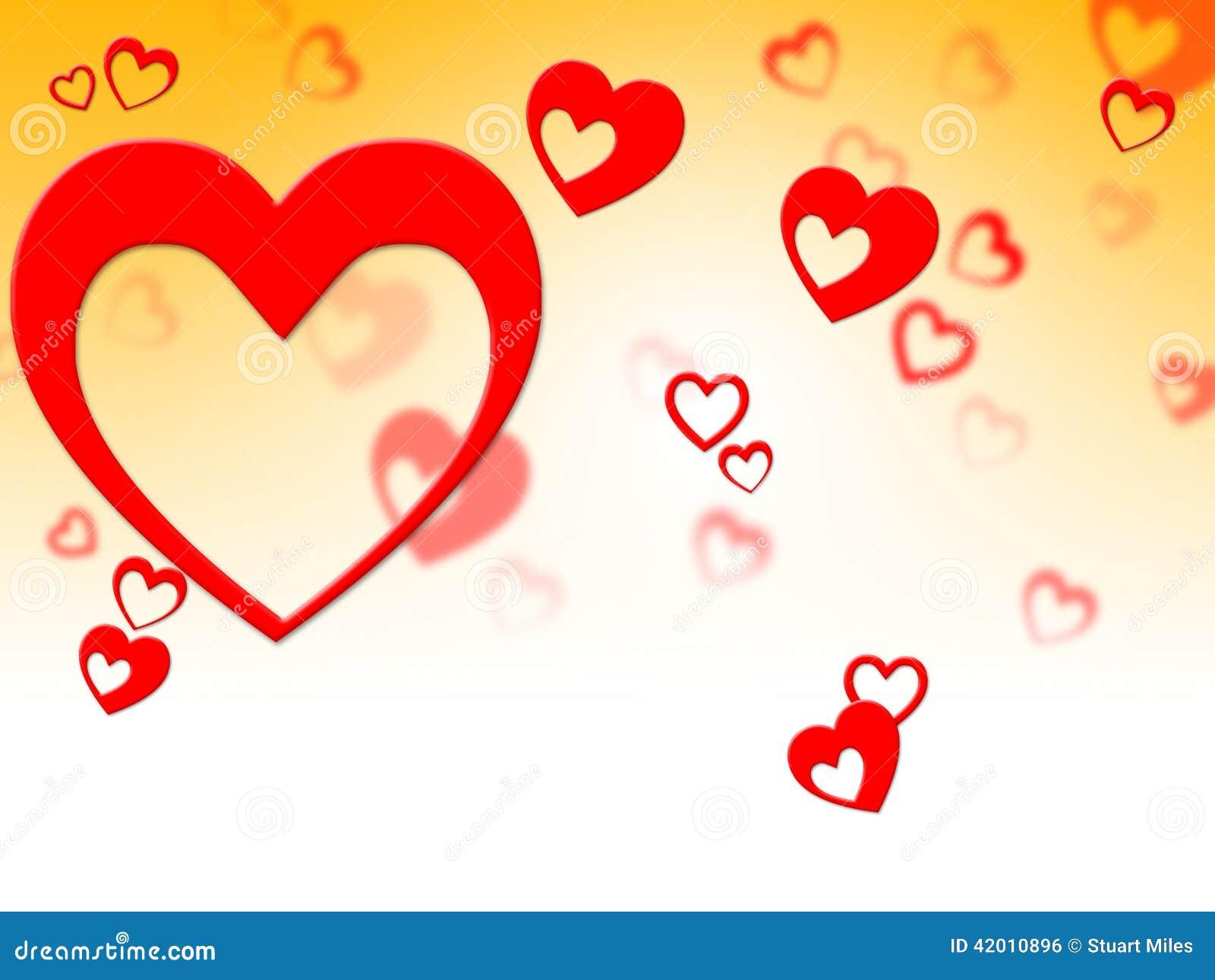Herz-Strahlen Stellt Valentine Day And Background Dar Stock ...