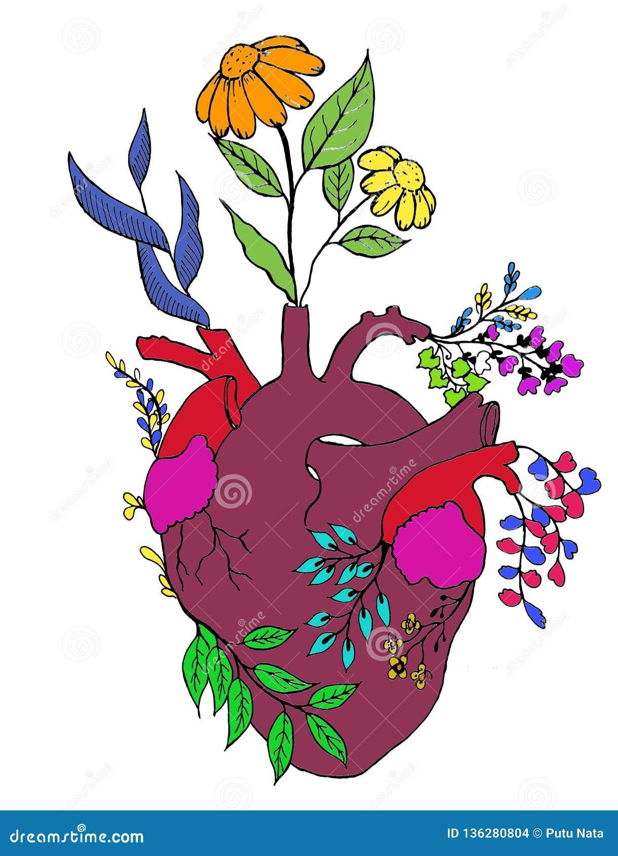 Herz und Blume