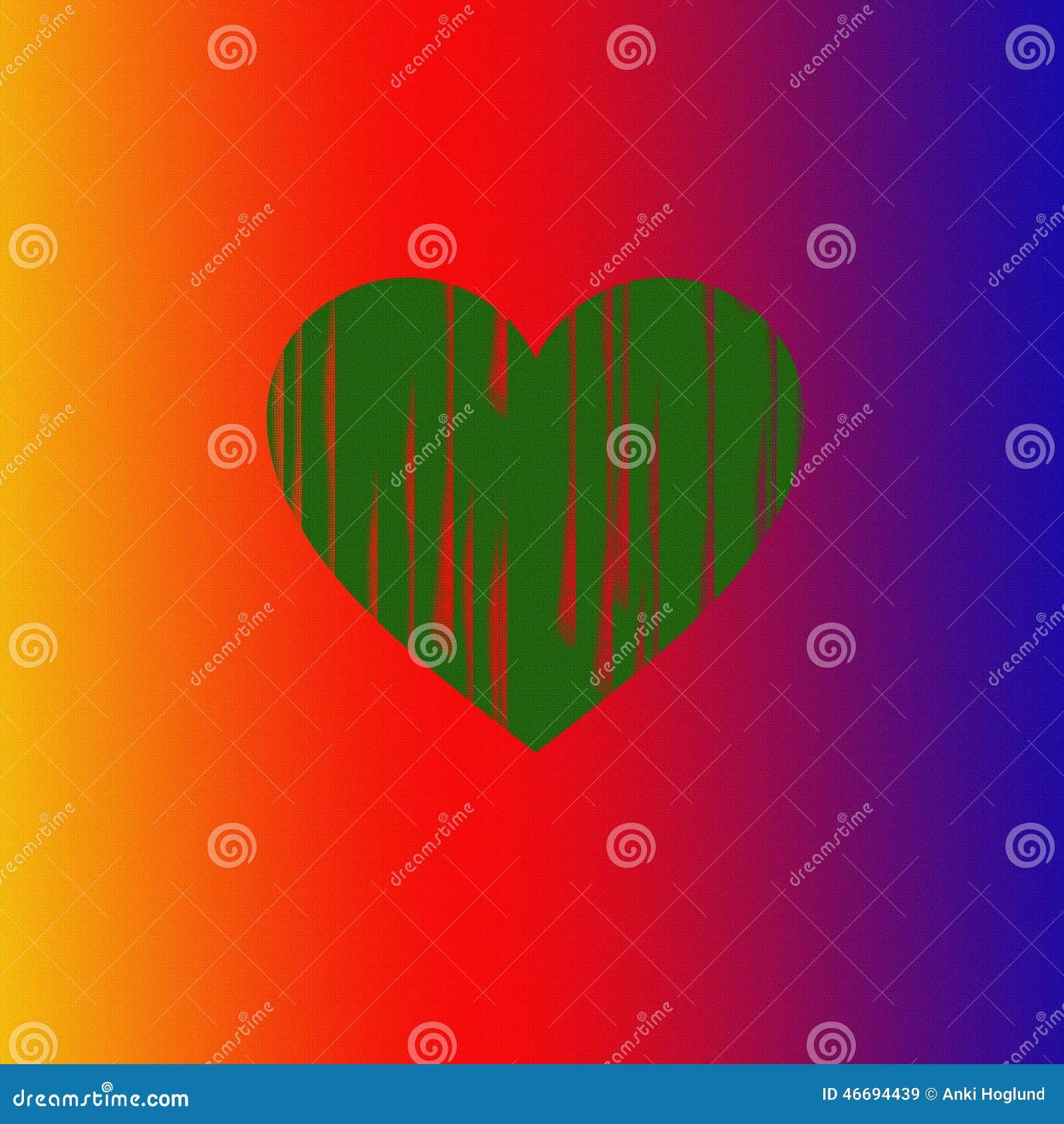 Herz von Farben