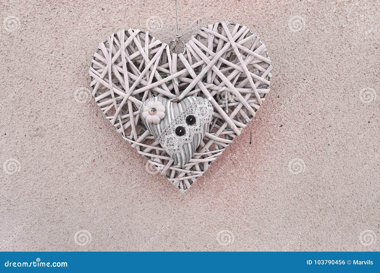 Herz zwei auf dem wall& x28; Valentine& x27; s-day& x29;