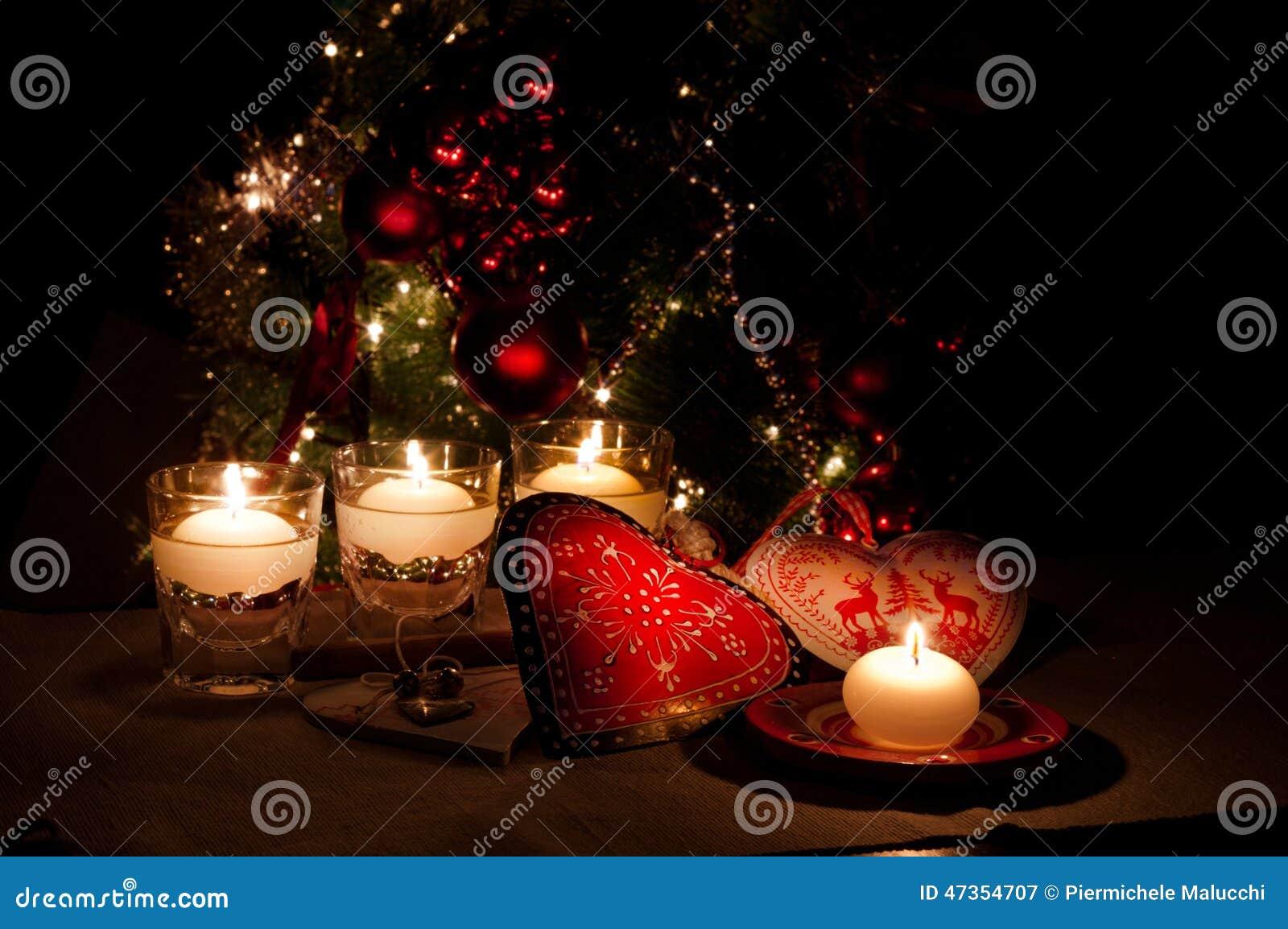 Frohe Weihnachten Herz.Herzen Dekorationen Und Weihnachtslichter Frohe Weihnachten