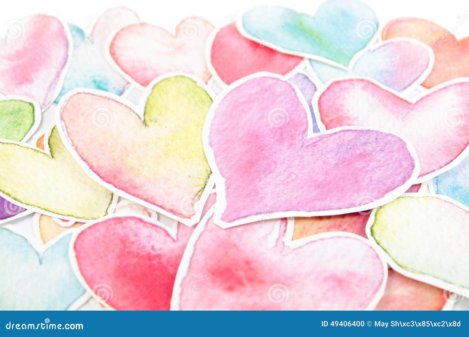 Download Herzform Auf Weißem Hintergrund Stock Abbildung - Illustration von bunt, getrennt: 49406400