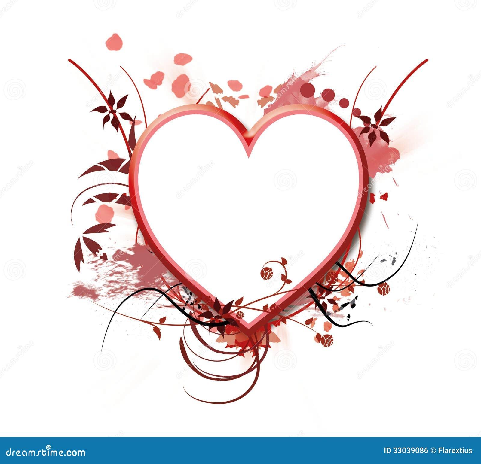 Herzrahmen stock abbildung. Illustration von amor, hintergrund ...