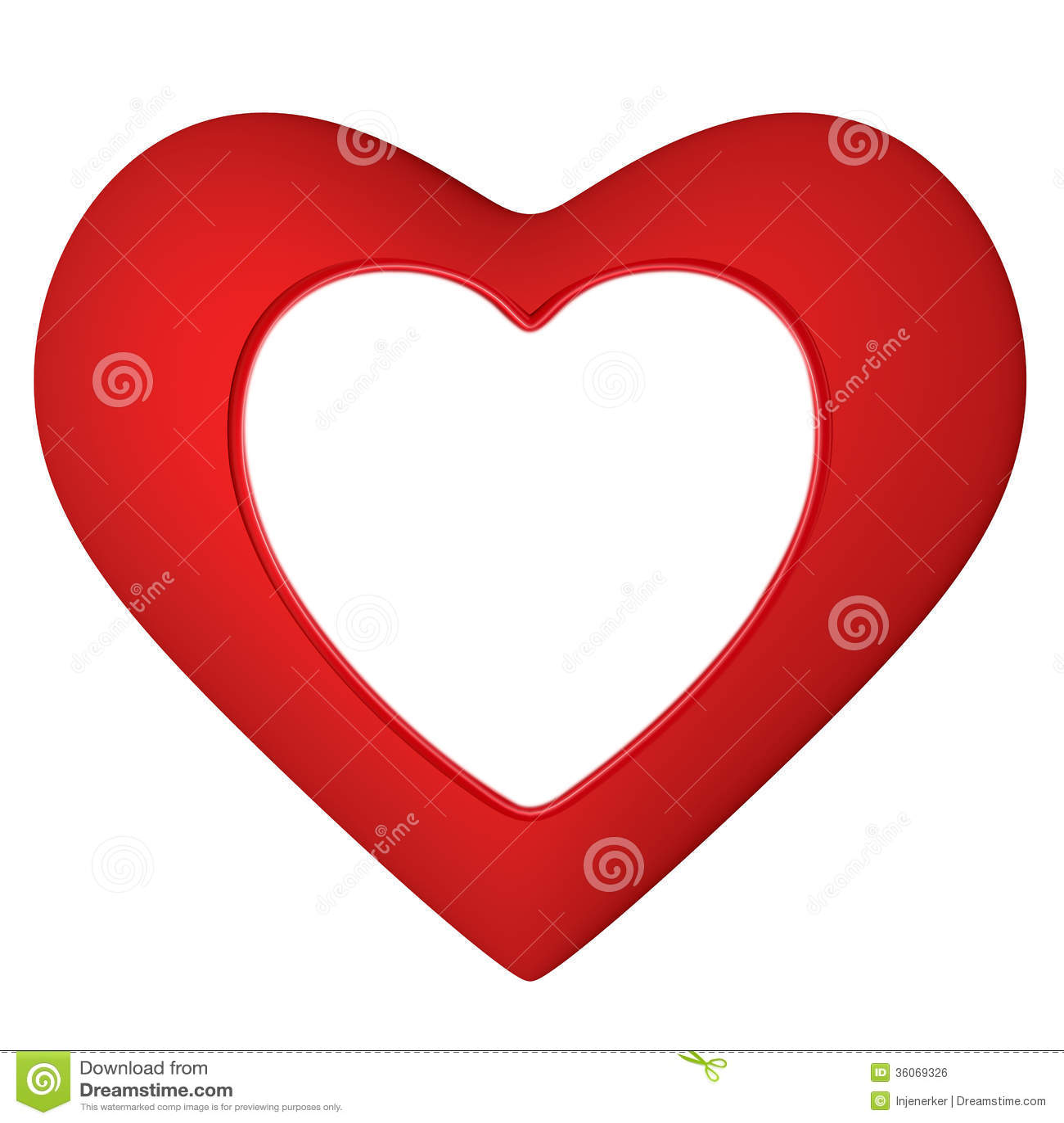 Herzrahmen stock abbildung. Illustration von mädchen - 36069326