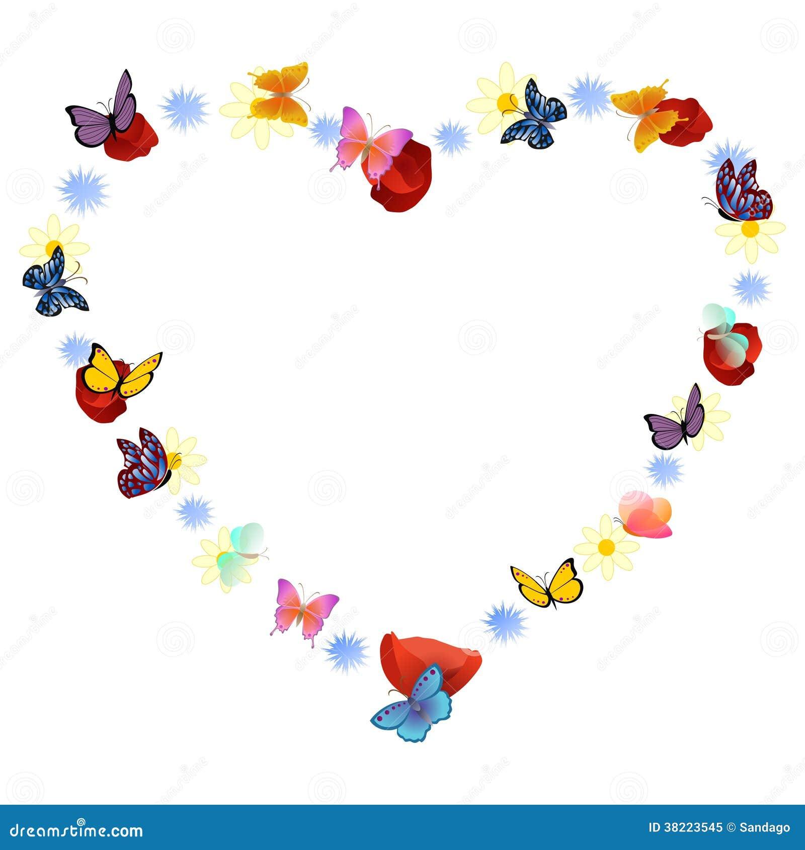 Herzrahmen vektor abbildung. Illustration von kreativ - 38223545