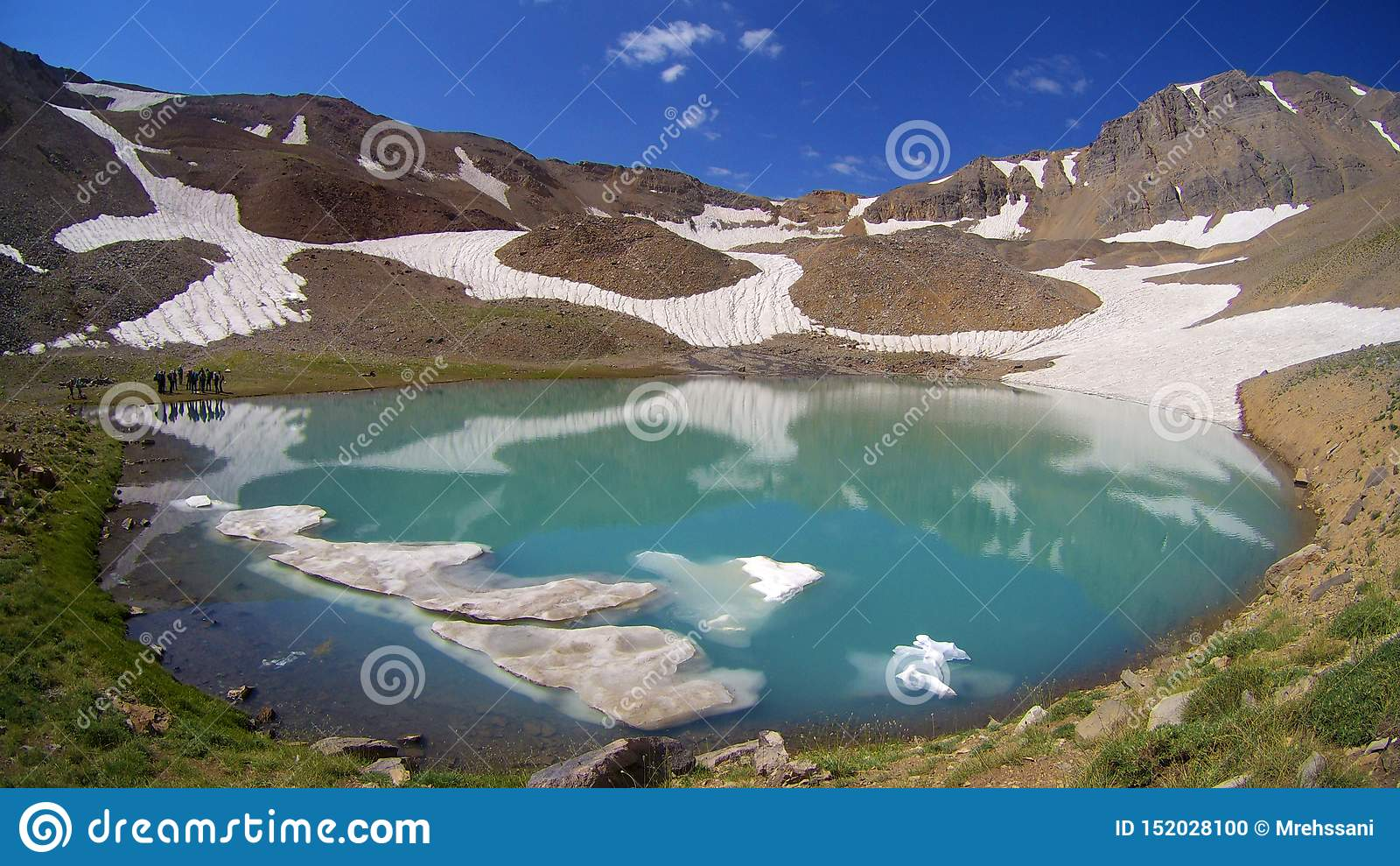 Hesarchal冰川Mountain湖