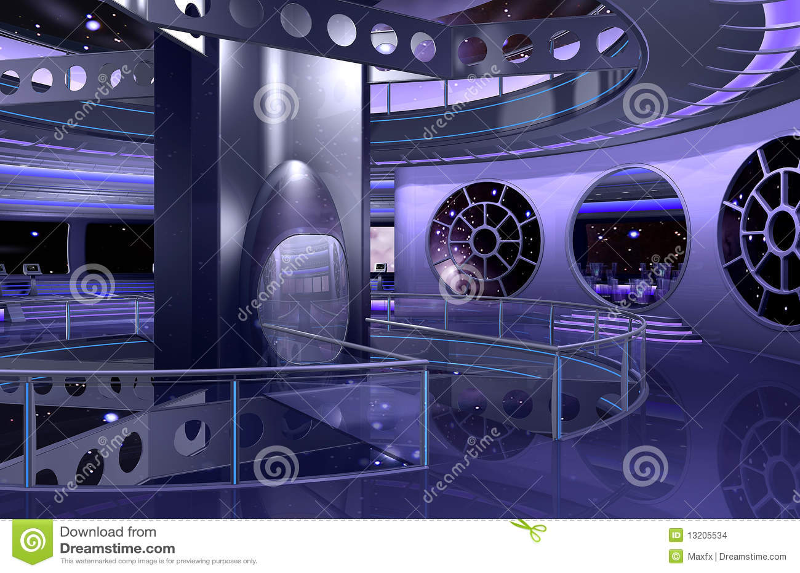 Het 3D ruimteschip binnenlandse teruggeven