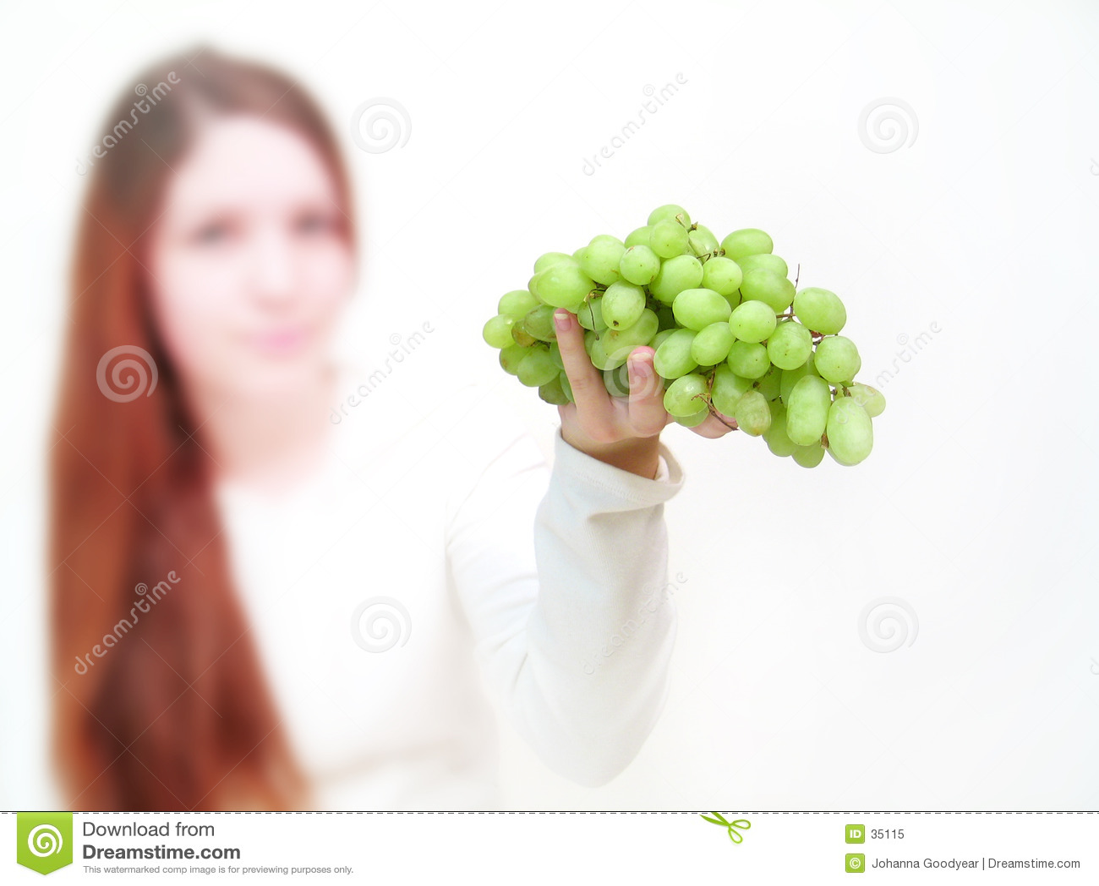 Het aanbieden van de druif