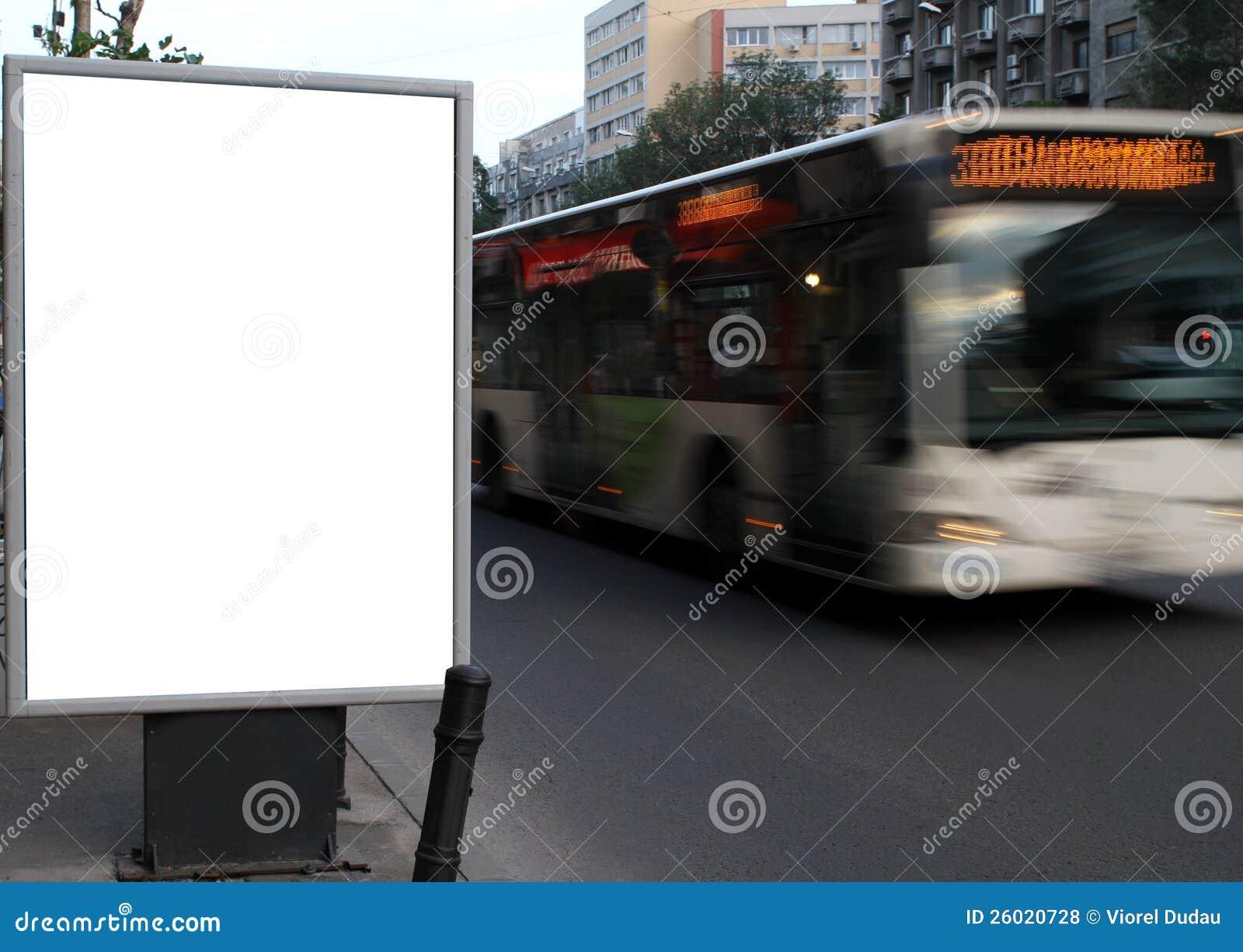 Het aanplakbord van de stad
