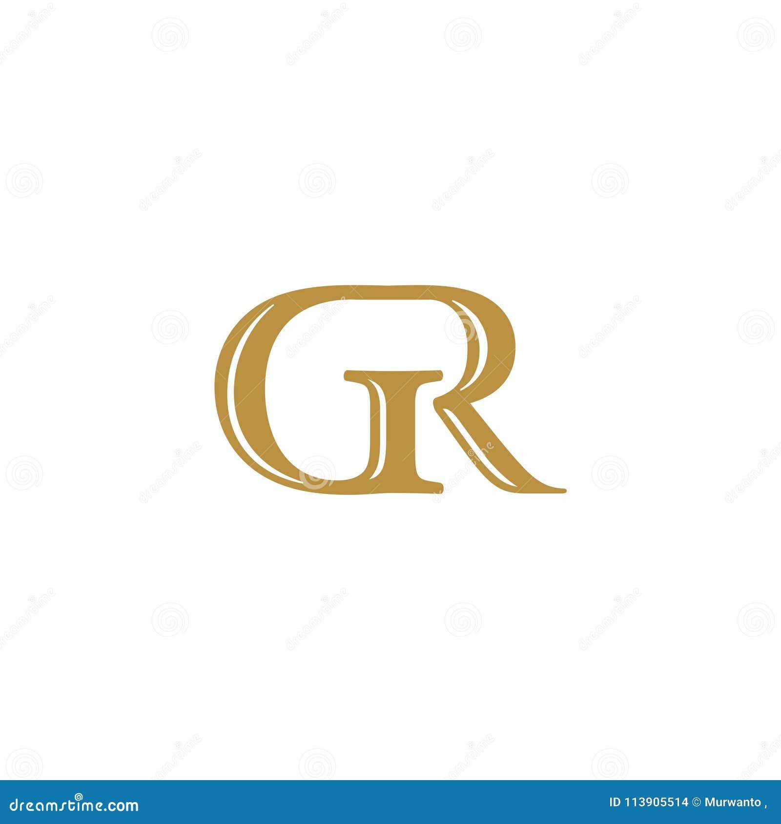 Het aanvankelijke gekleurde goud van brievengr. logotype