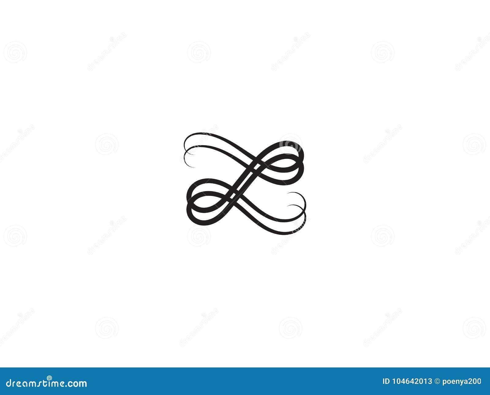 Download Het Aanvankelijke Malplaatje Van Het Brievenz Embleem Alfabetsymbool Voor Collectief Stock Illustratie - Illustratie bestaande uit logotype, geometrisch: 104642013