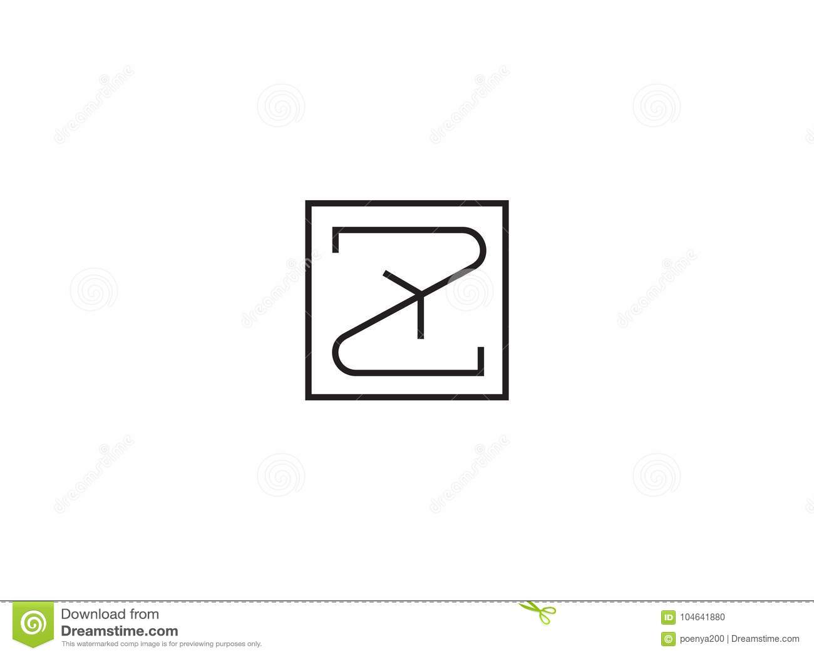 Download Het Aanvankelijke Malplaatje Van Het Brievenz Embleem Alfabetsymbool Voor Collectieve Bu Vector Illustratie - Illustratie bestaande uit agentschap, bedrijf: 104641880