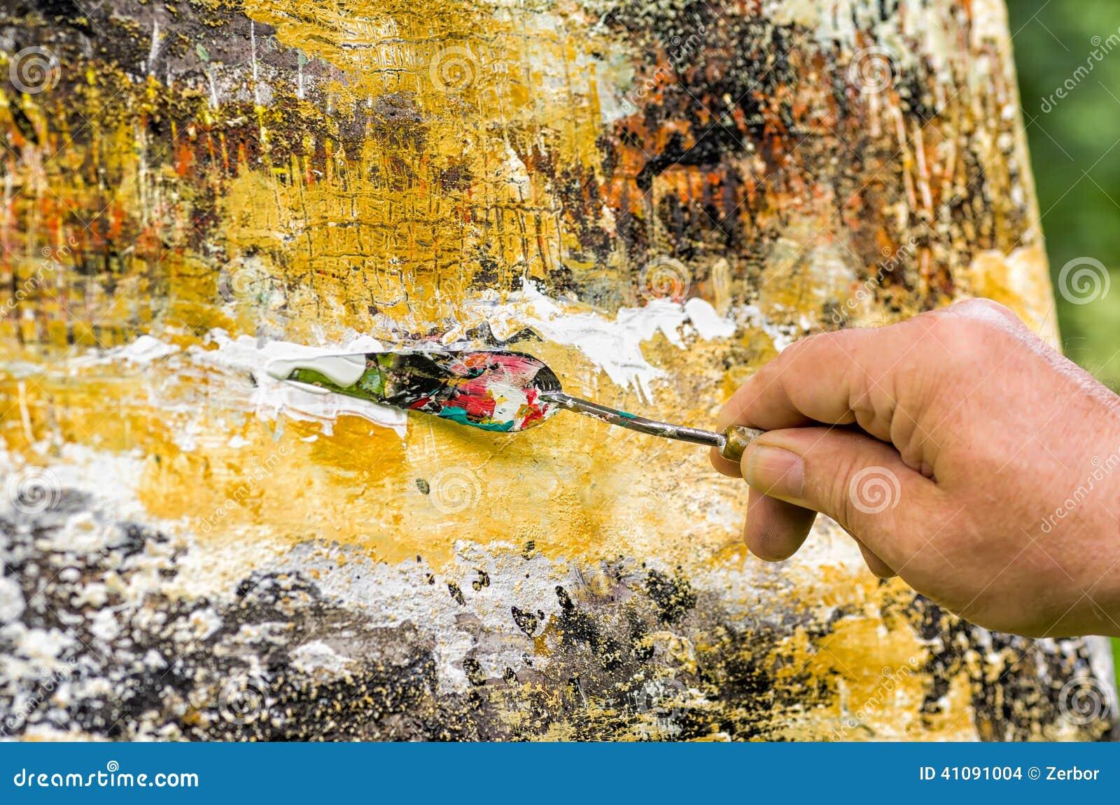 Top Het Abstracte Acryl Schilderen Stock Foto - Afbeelding bestaande &OS96