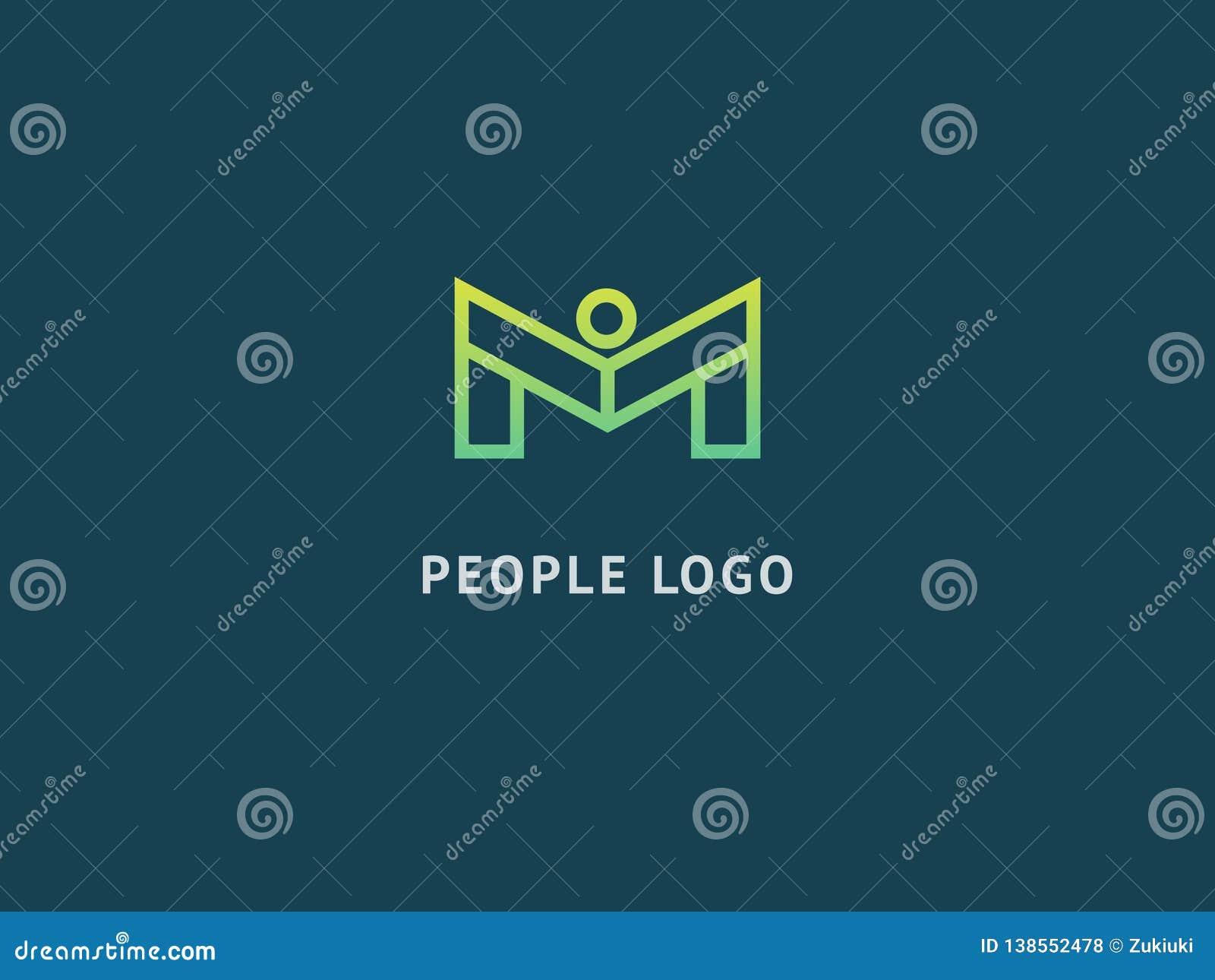Het abstracte communautaire vectorontwerp van het embleempictogram Creatief agentschap, maatschappelijk werk, groepswerk, zaken,