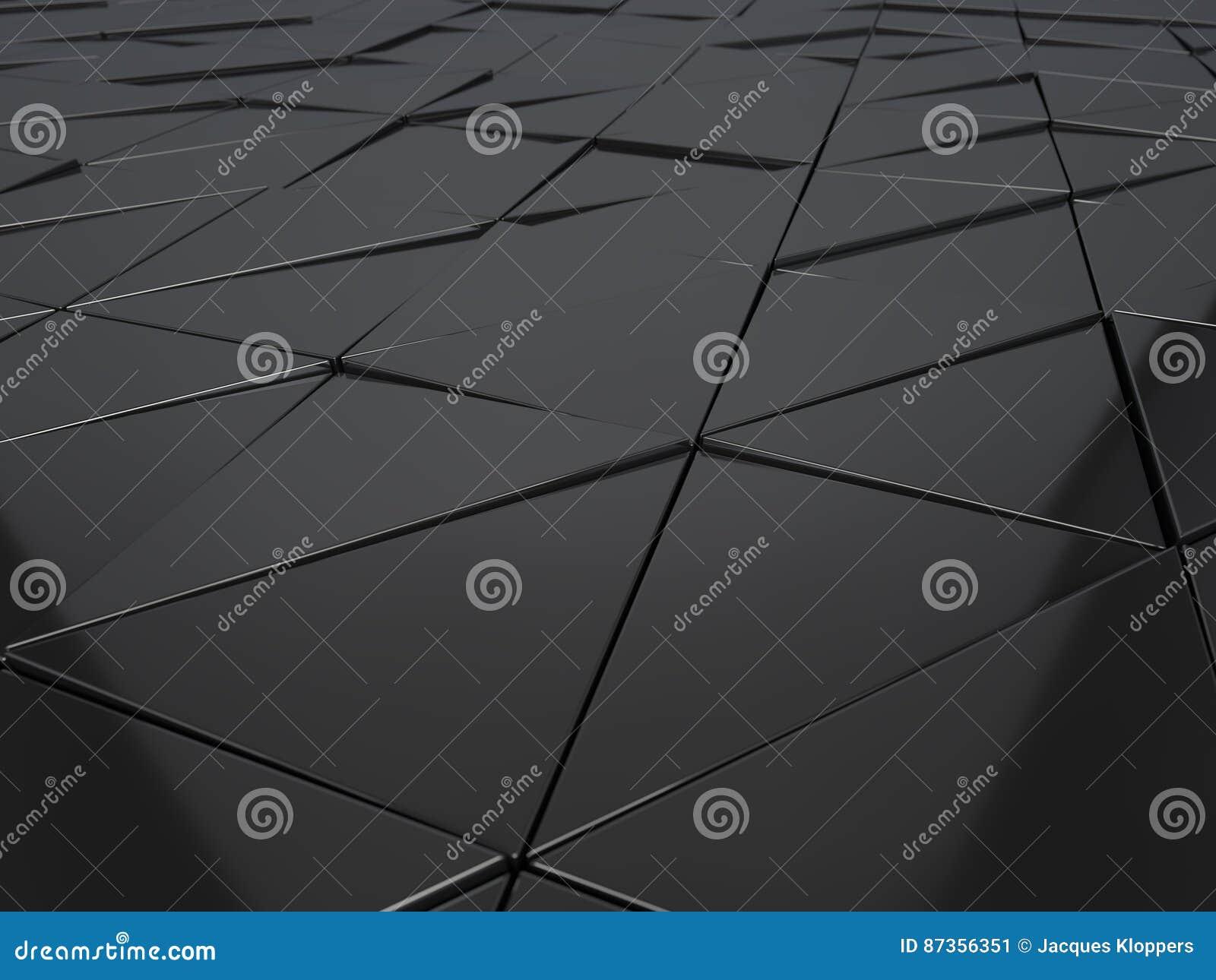 Het abstracte 3d teruggeven van metaal geometrische panelen