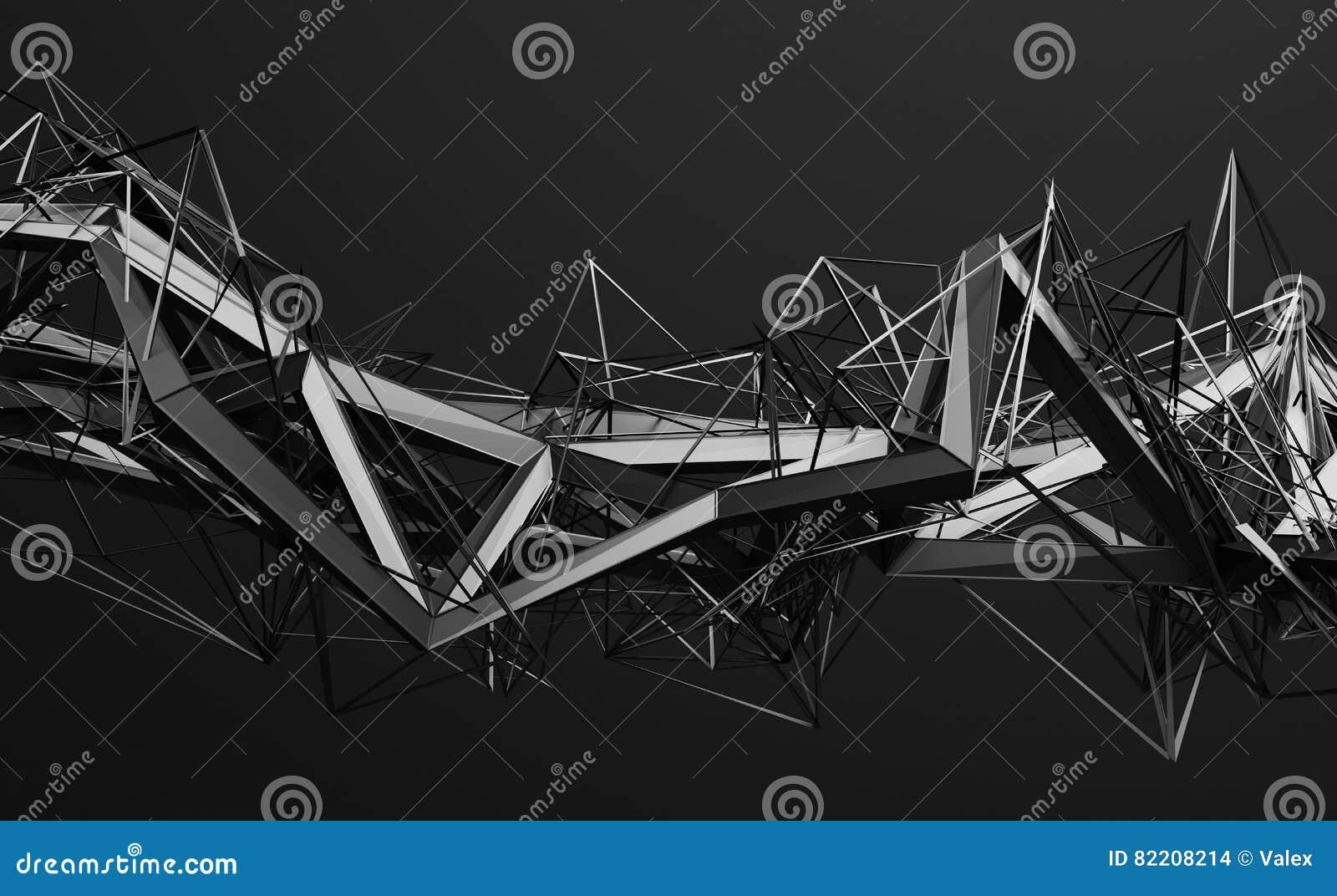Het abstracte 3D Teruggeven van Veelhoekige Vorm