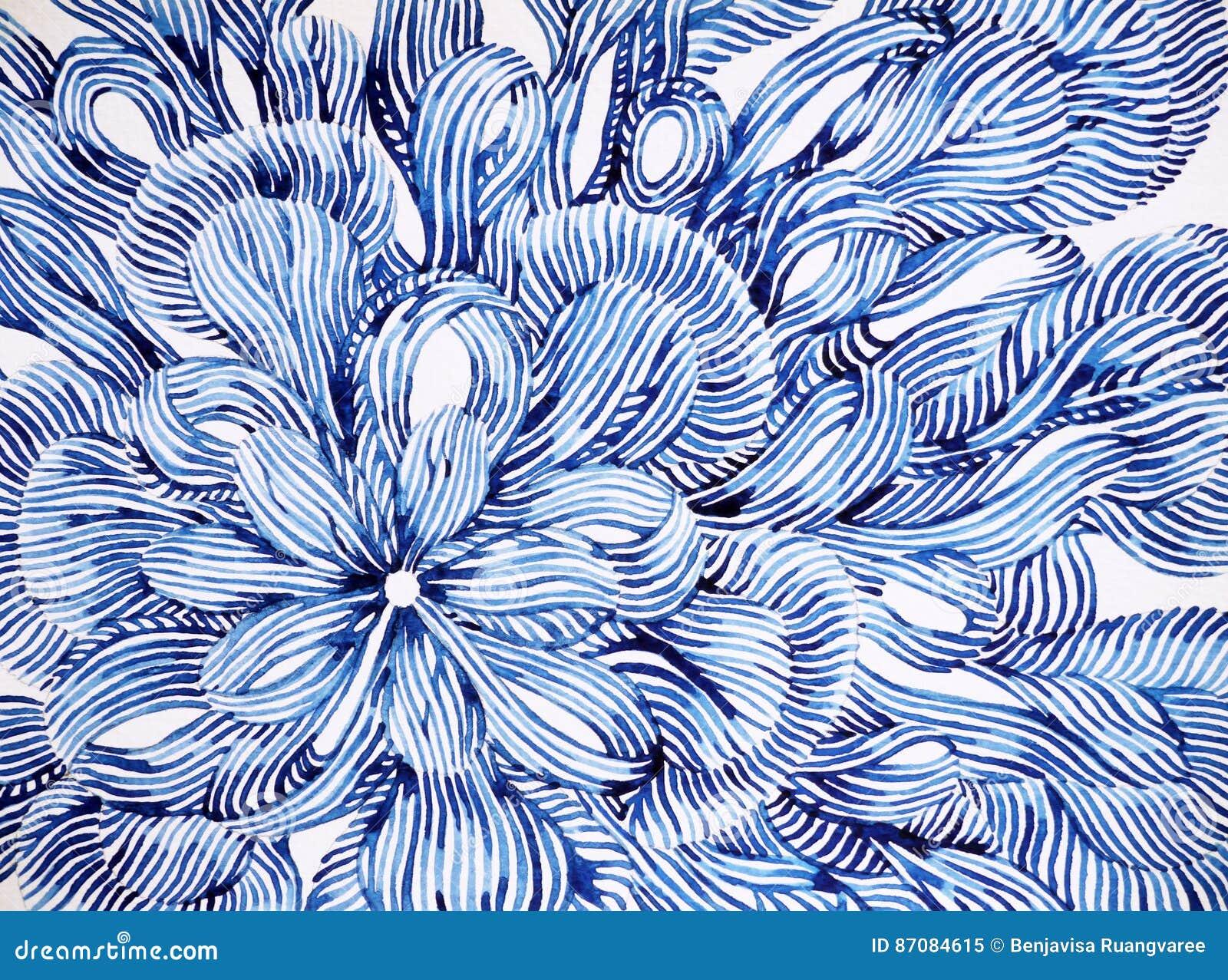 Het abstracte de waterverf van de het ontwerpillustratie van het bloem bloemenpatroon schilderen