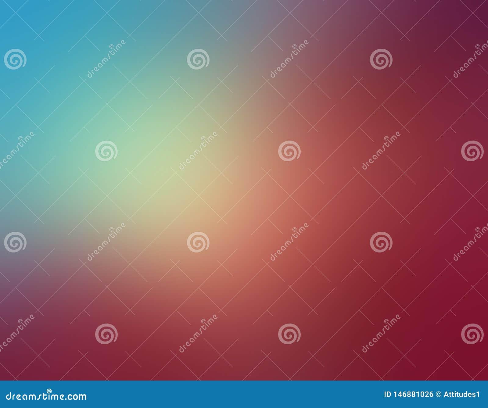 Het abstracte hemelblauw en nam roze vage kleuren als achtergrond in zacht gemengd ontwerp met gele zonneschijnschijnwerper toe