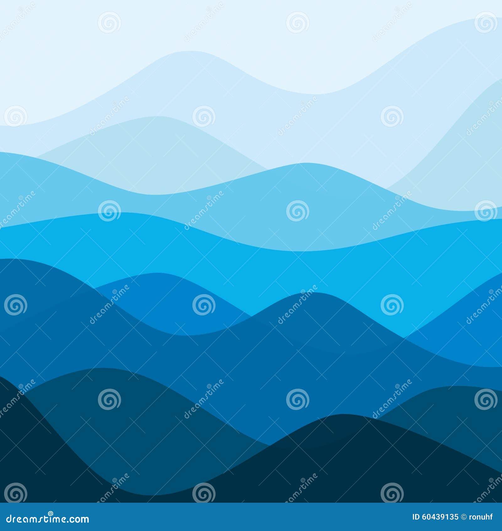 Het abstracte landschap van de wateraard Decoratieve vierkante achtergrond