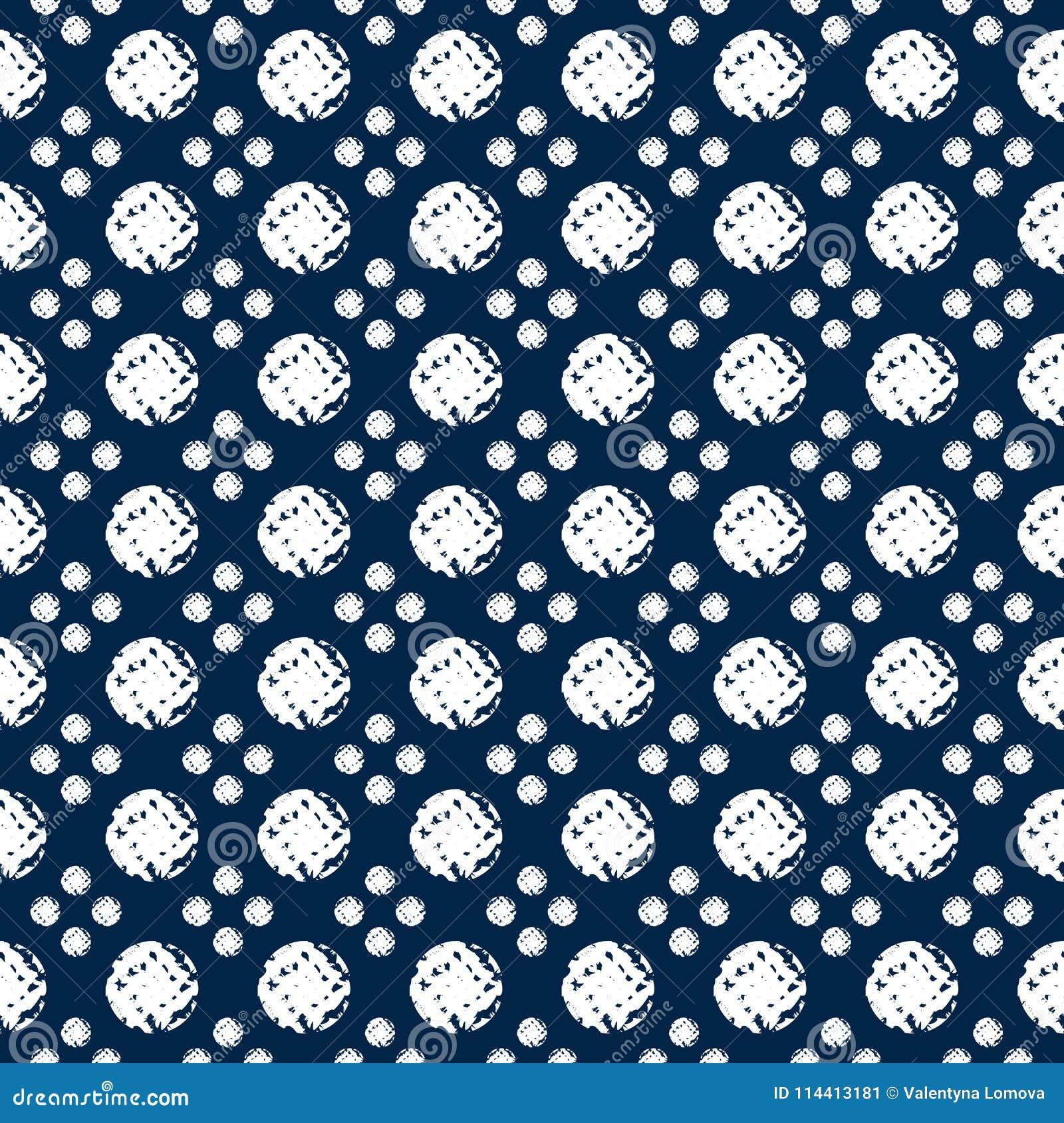 Het abstracte naadloze patroon van indigoshibori met mozaïek