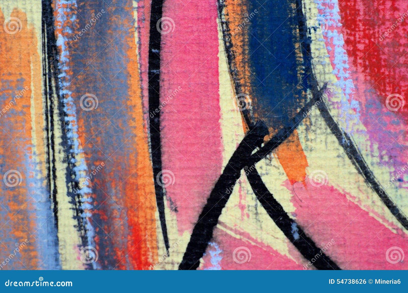 Het abstracte pastelkleur schilderen