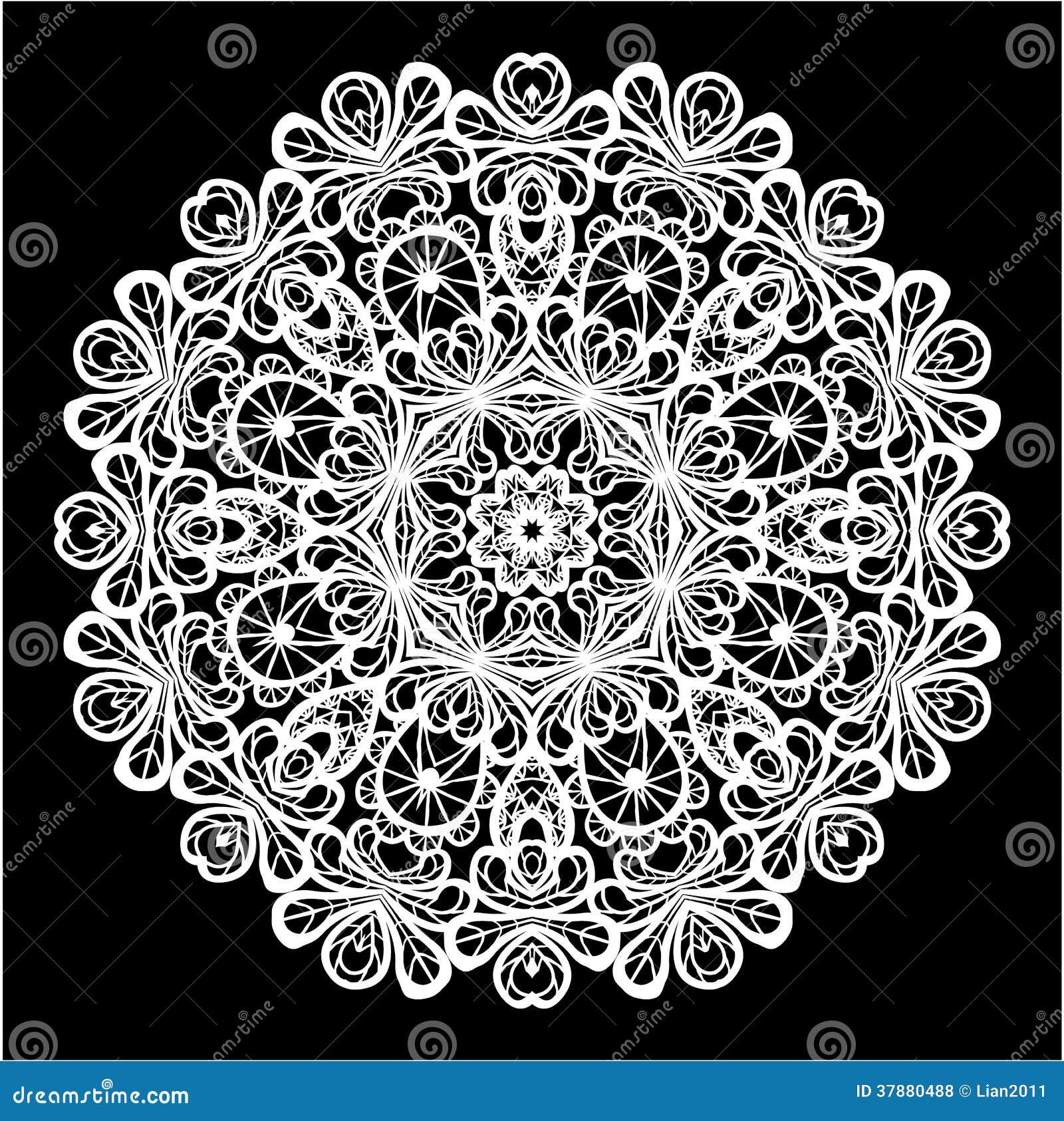Het abstracte patroon van het cirkelkant