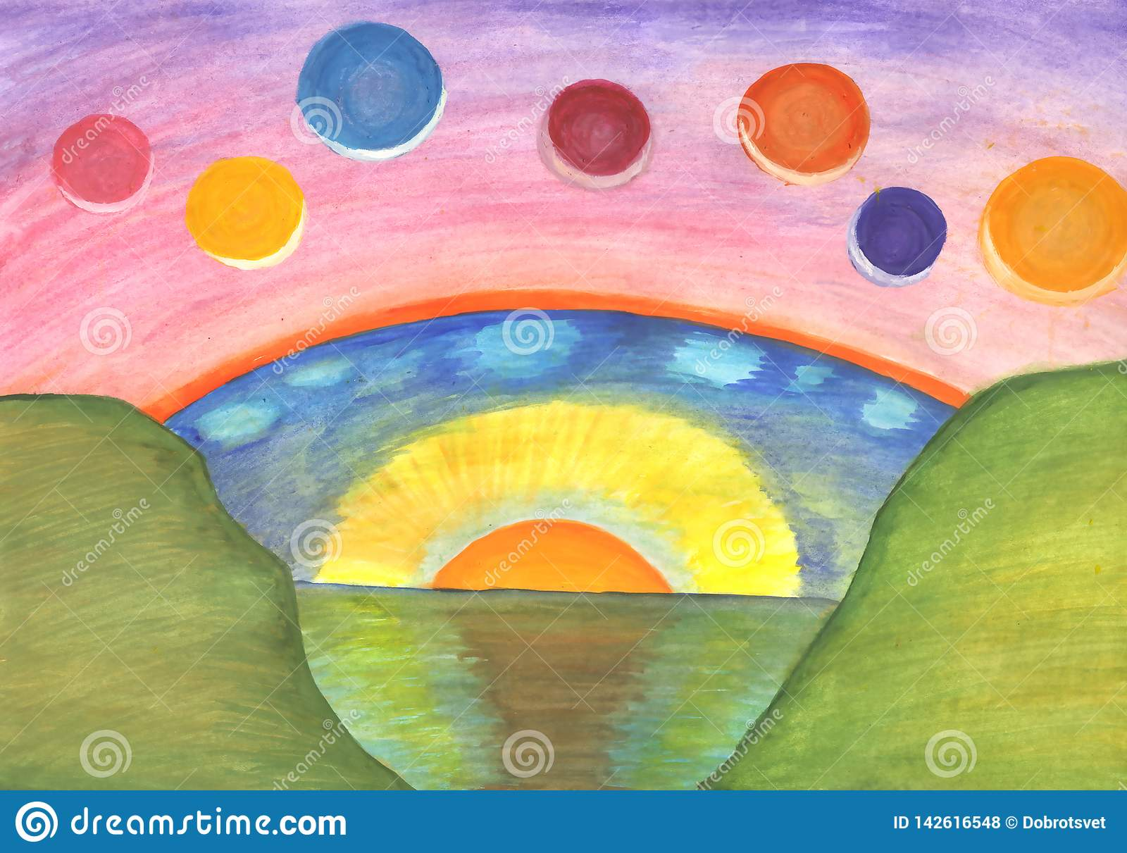 Het abstracte schilderen E