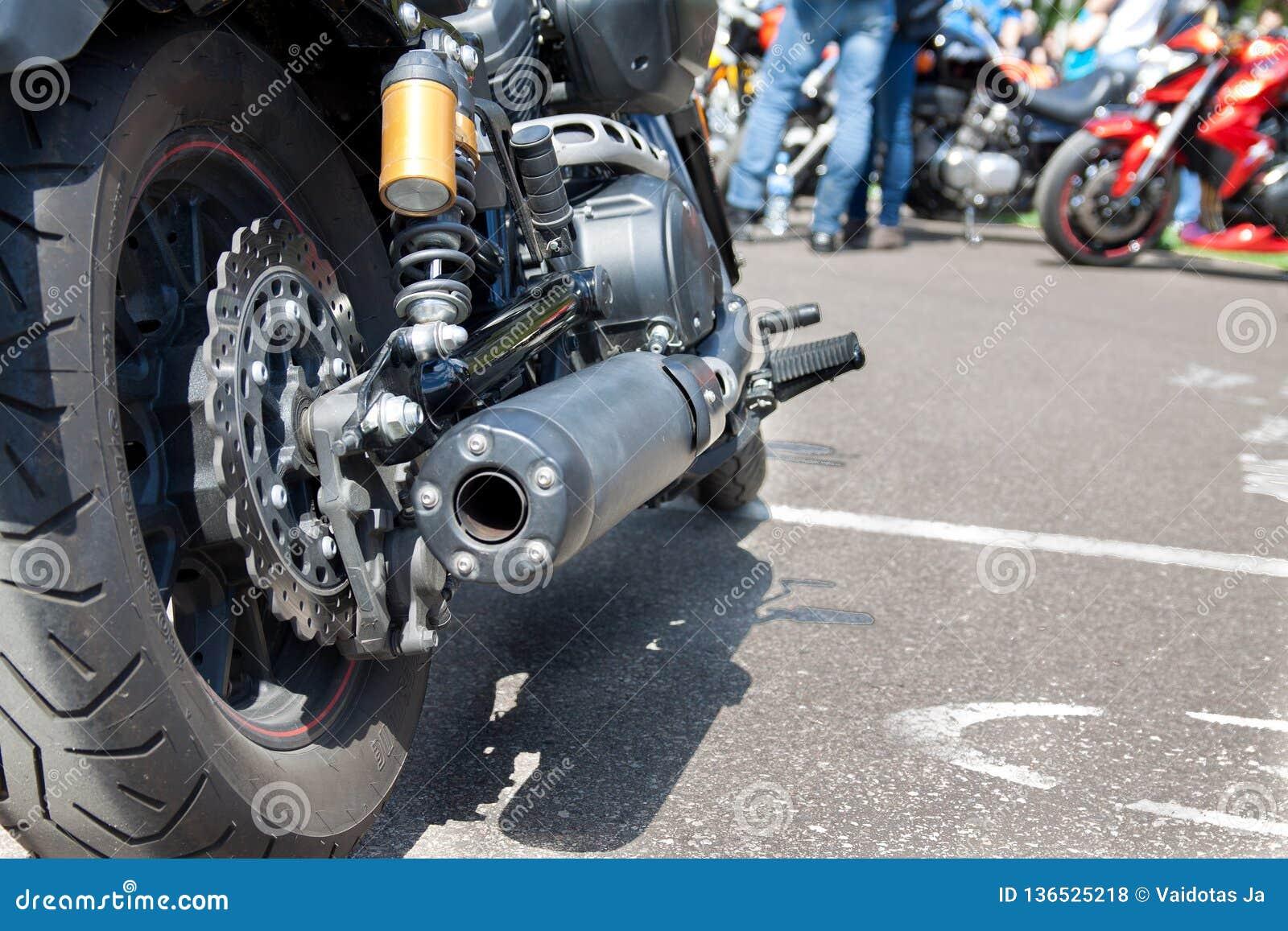 Het AchterWiel van de motorfiets