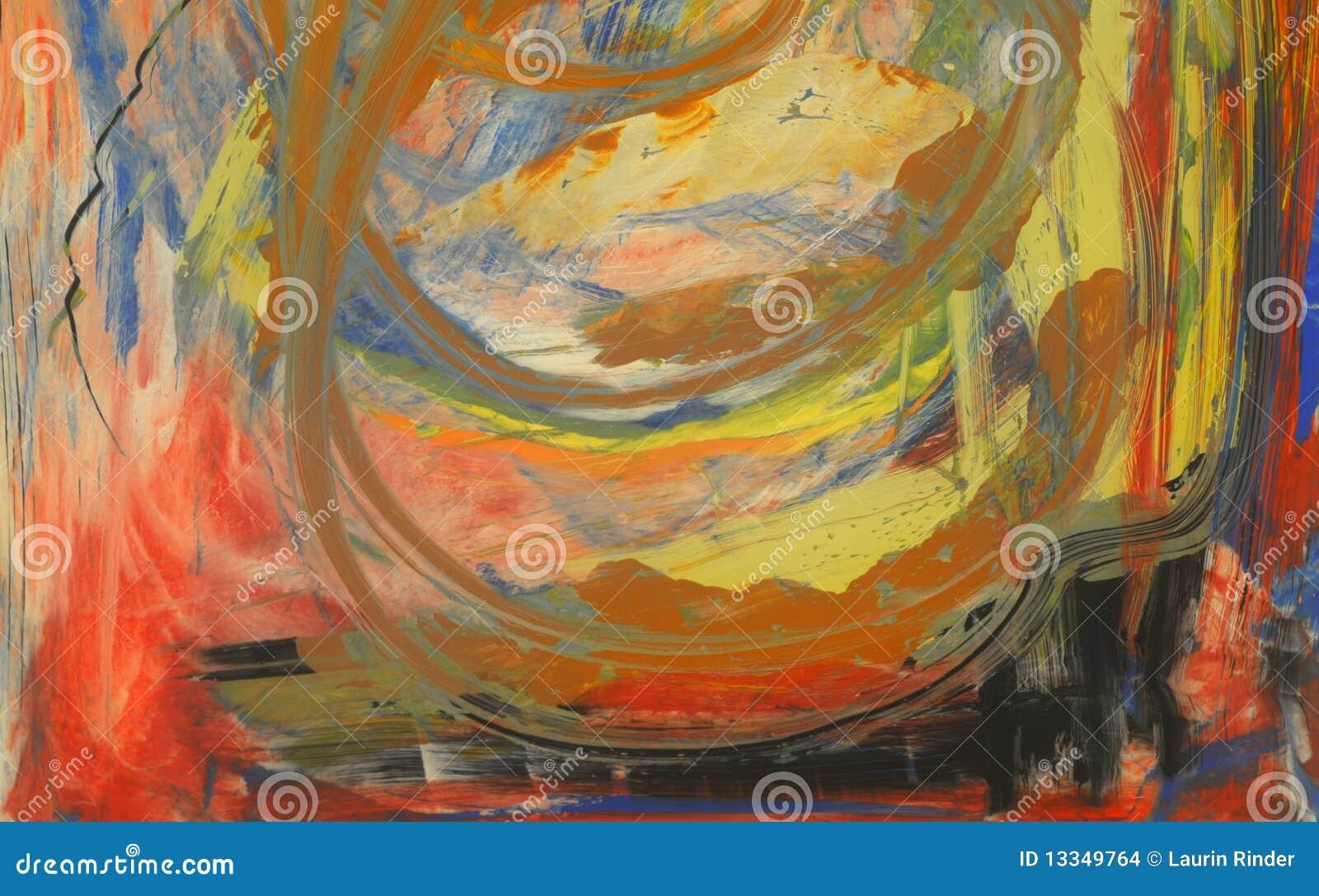 het acryl schilderen stock illustratie illustratie