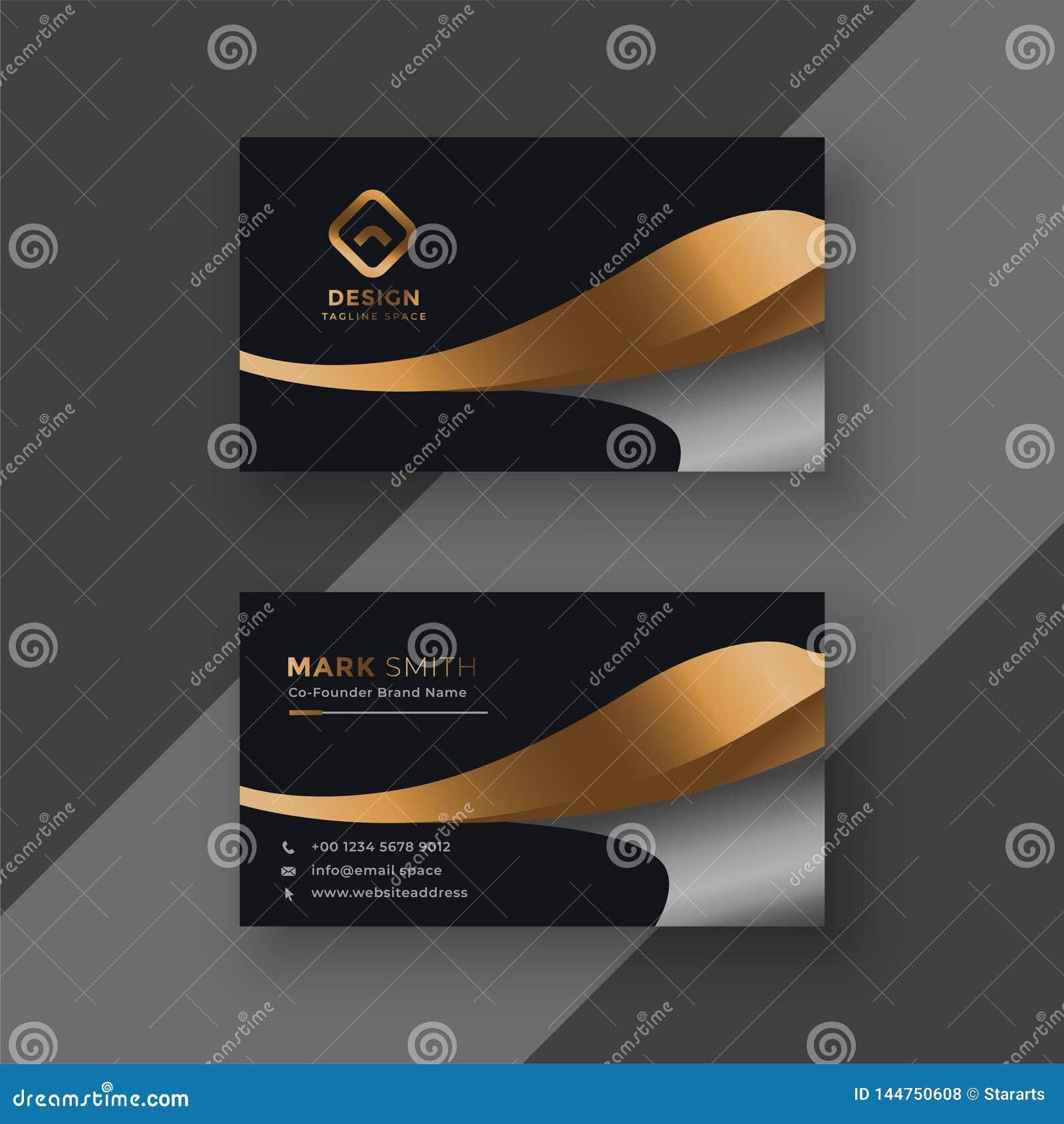 Het adreskaartjemalplaatje van de luxe gouden premie