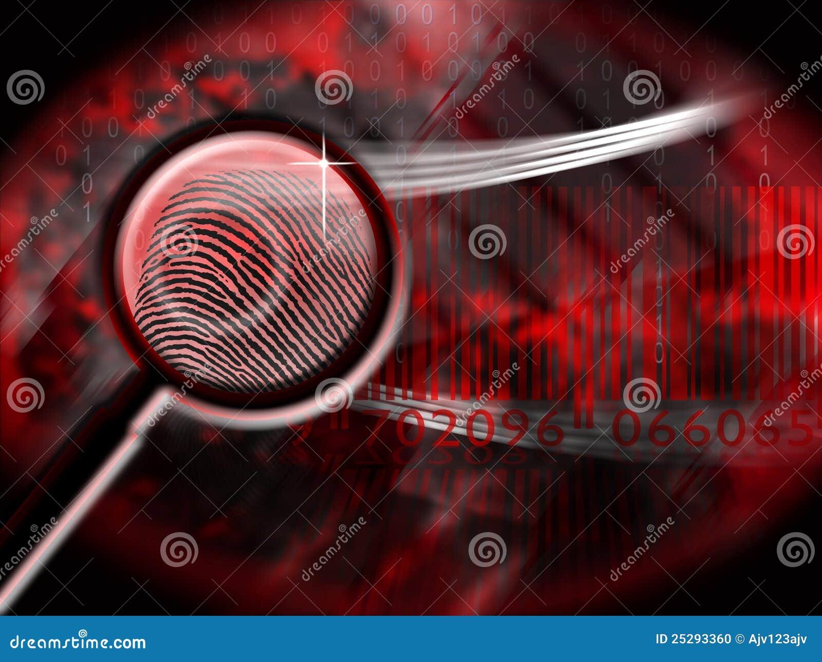 Het af:drukken van de duim misdaad