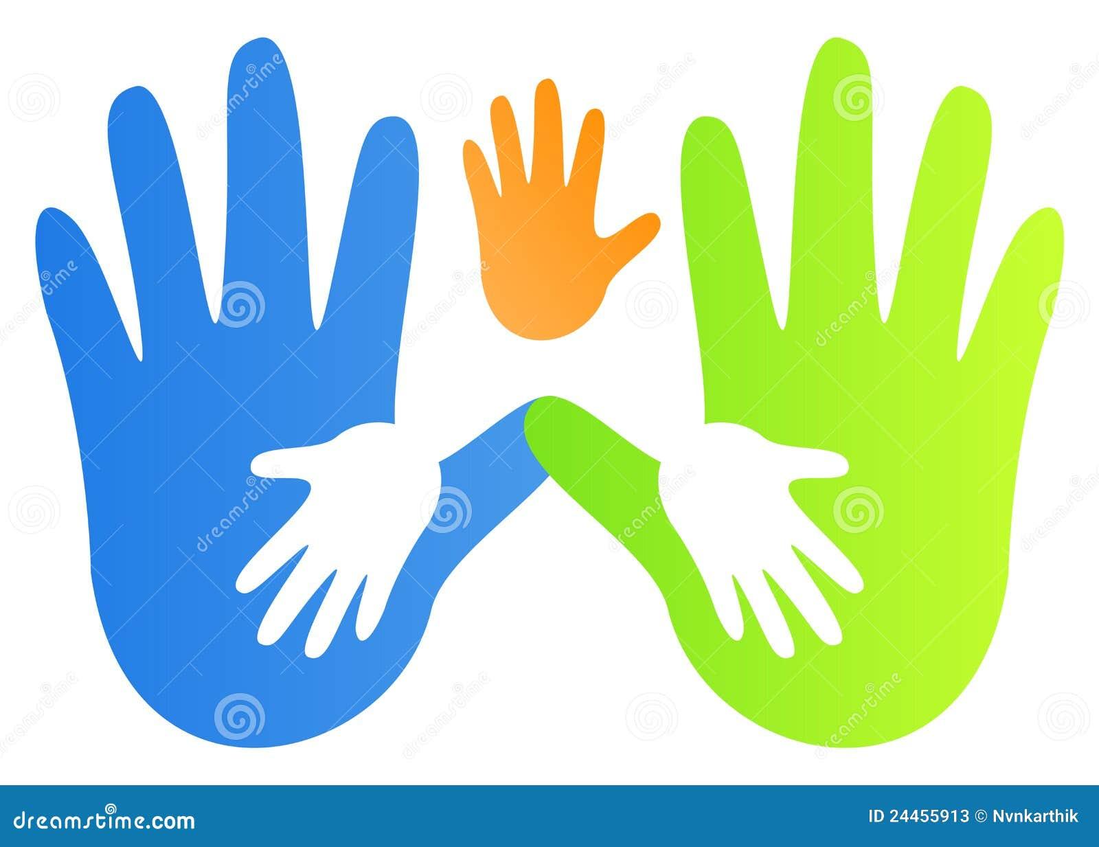 Het af:drukken van de hand