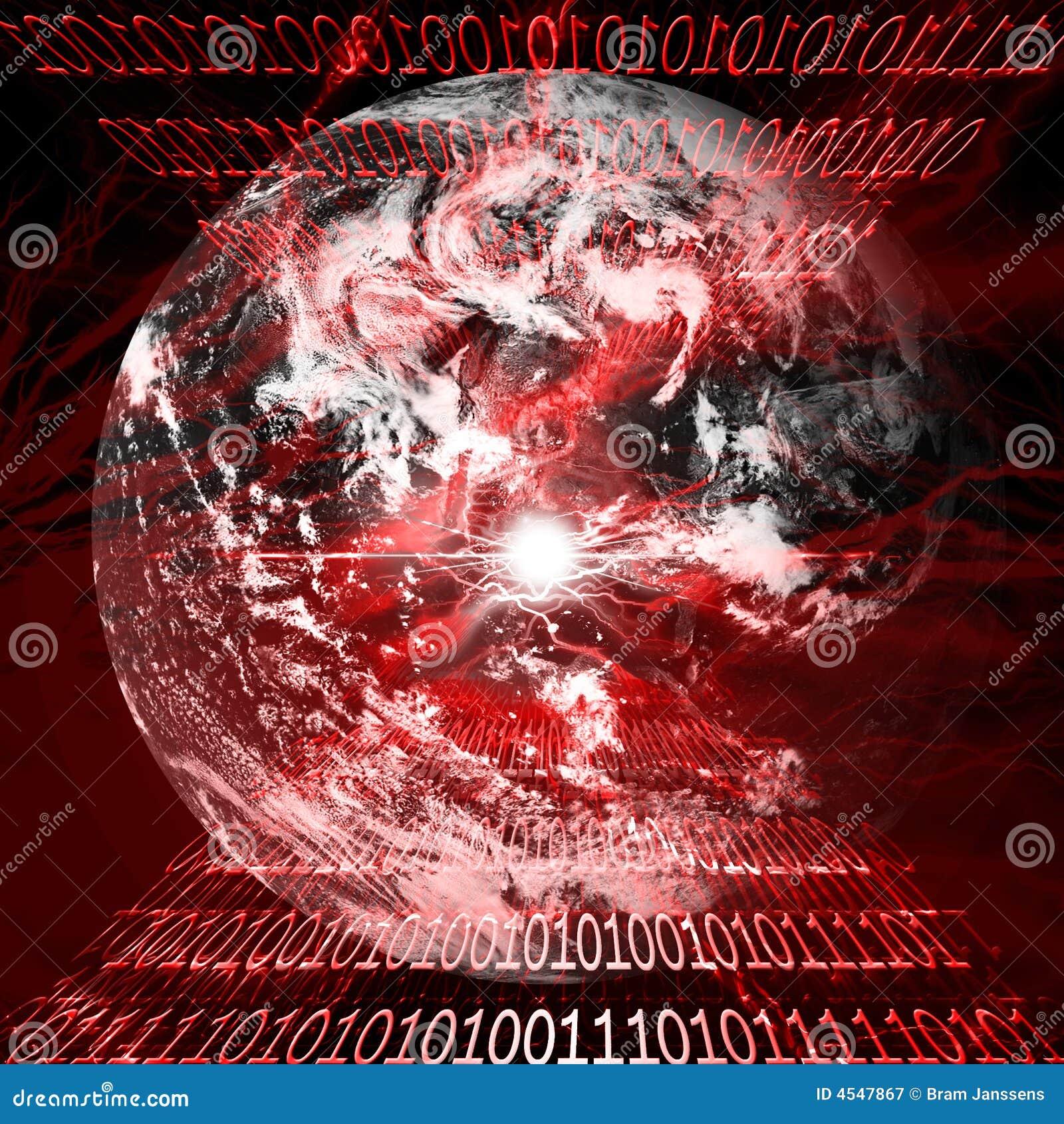 Het alarm van het virus