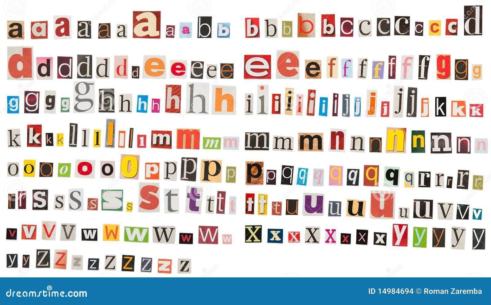 Magazine word background stock photography image 12291482 - Het Alfabet Van De Krant Kleine Letters Stock Afbeeldingen