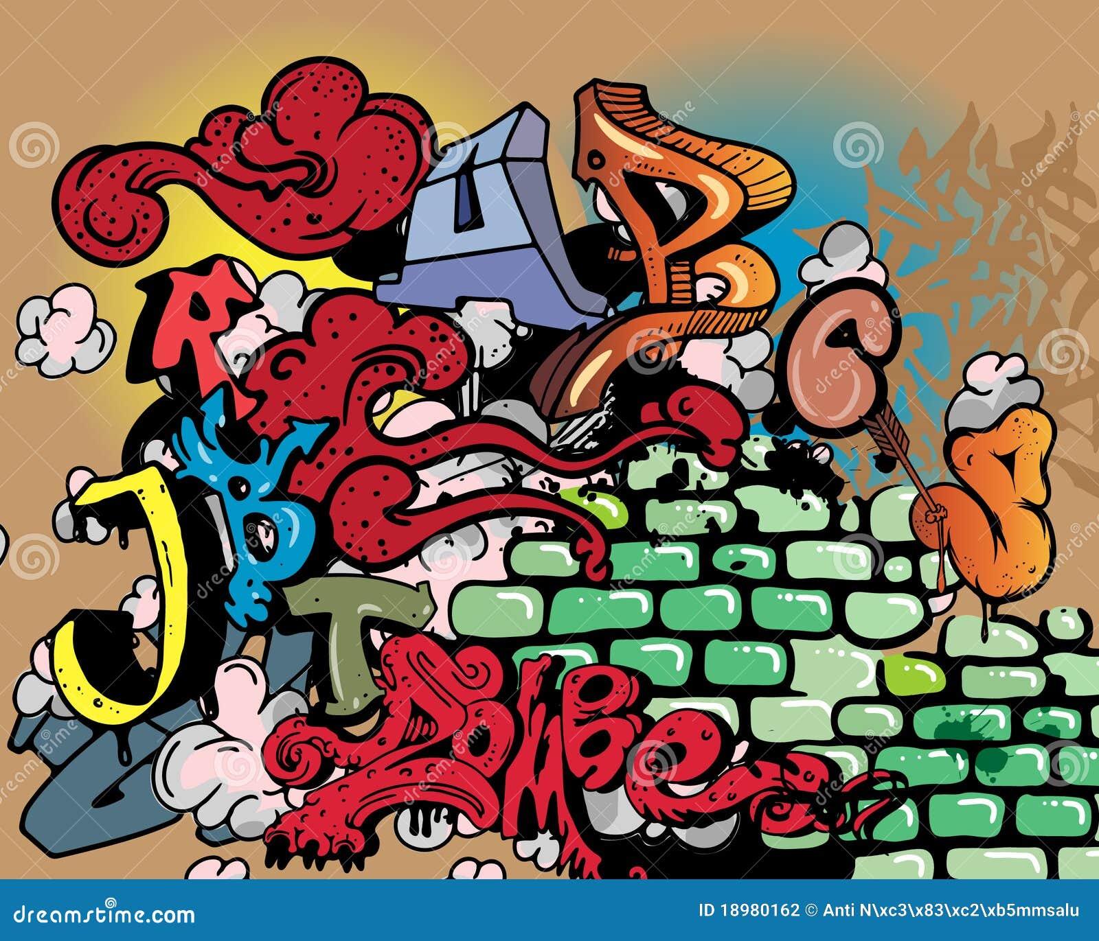 Het alfabetelementen van Graffiti