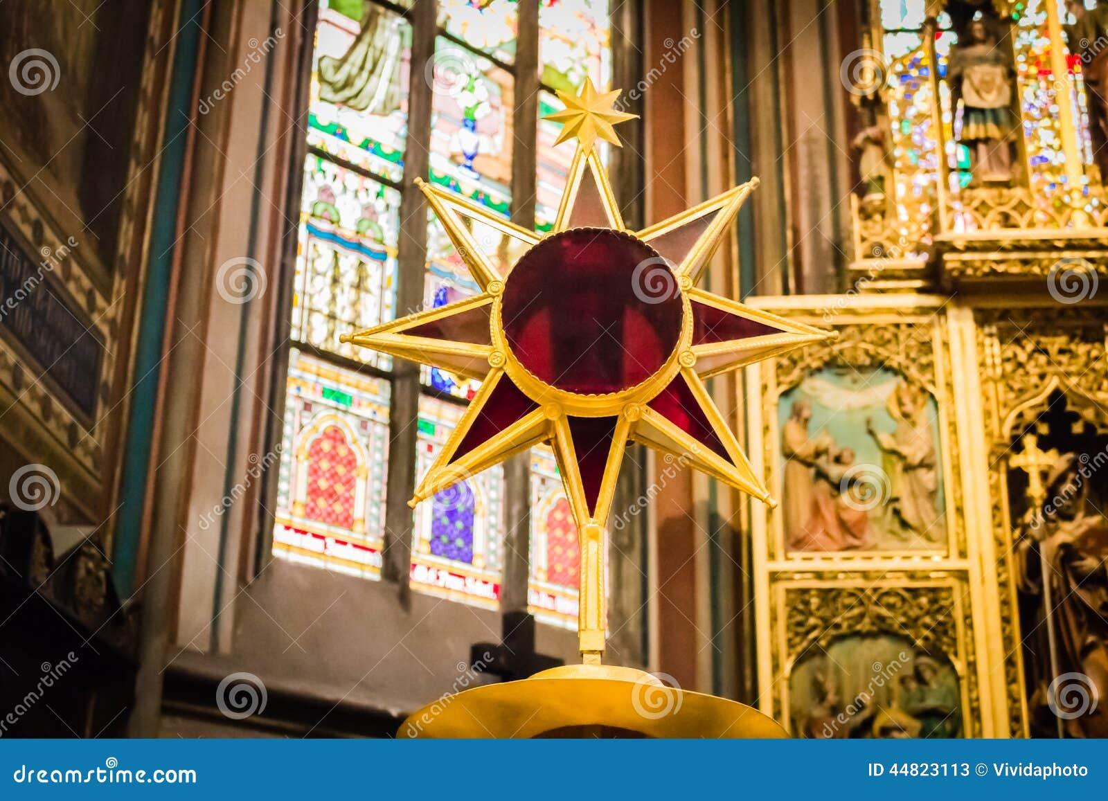 Het altaar van heilige Vitus Cathedral
