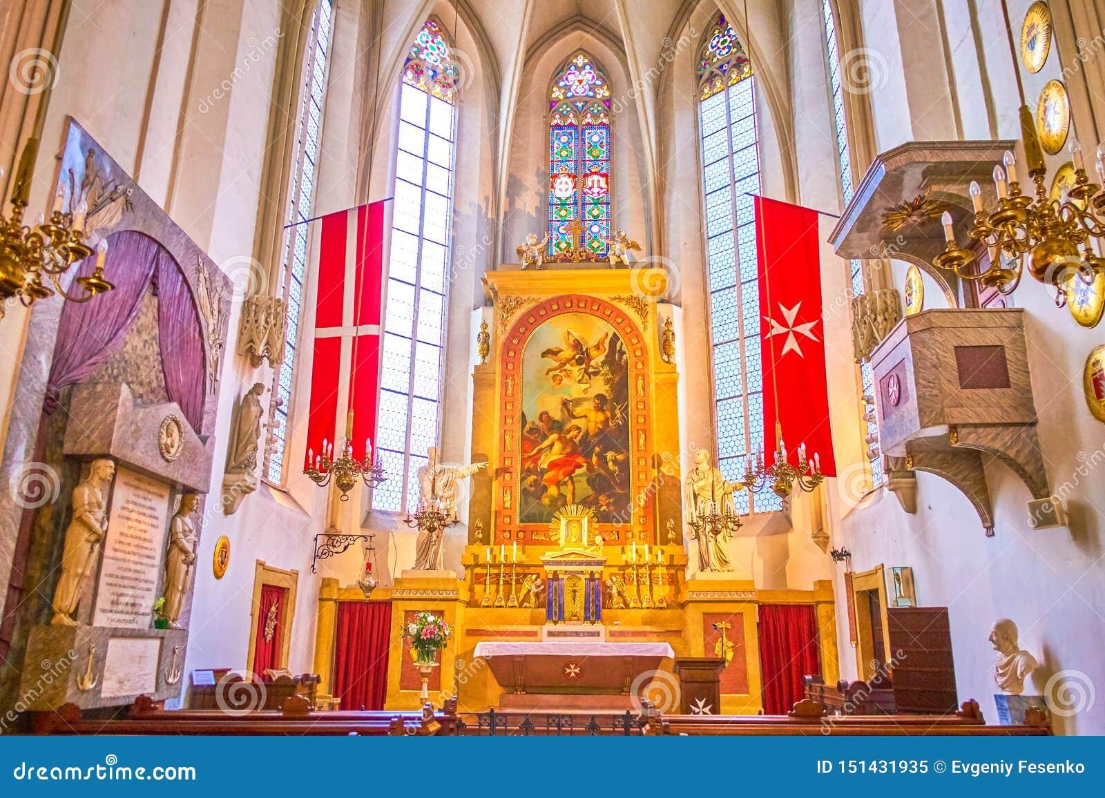 Het Altaar van Maltese Kerk in Wenen, Oostenrijk