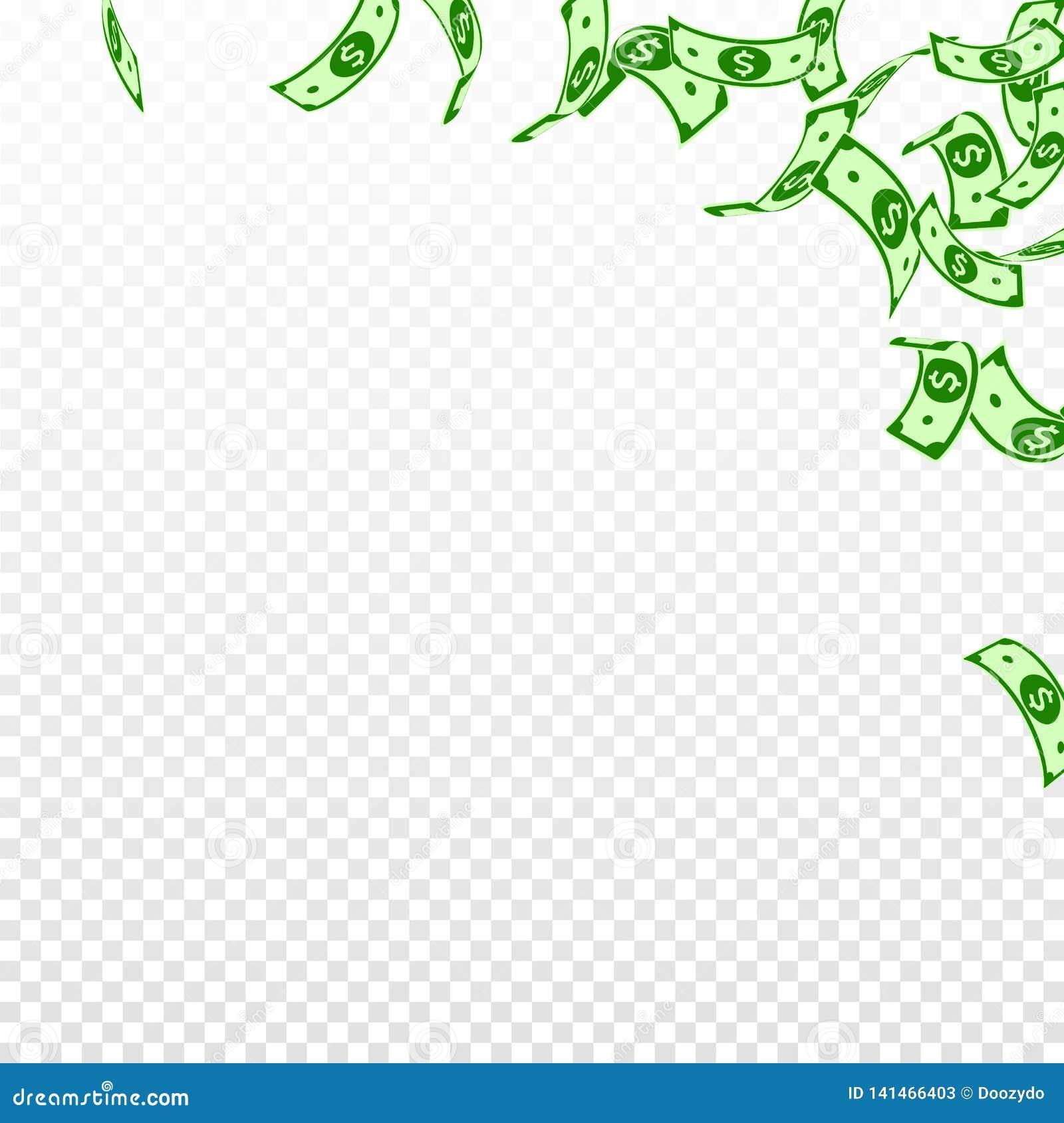 Het Amerikaanse dollarnota s vallen Drijvende USD-rekeningen