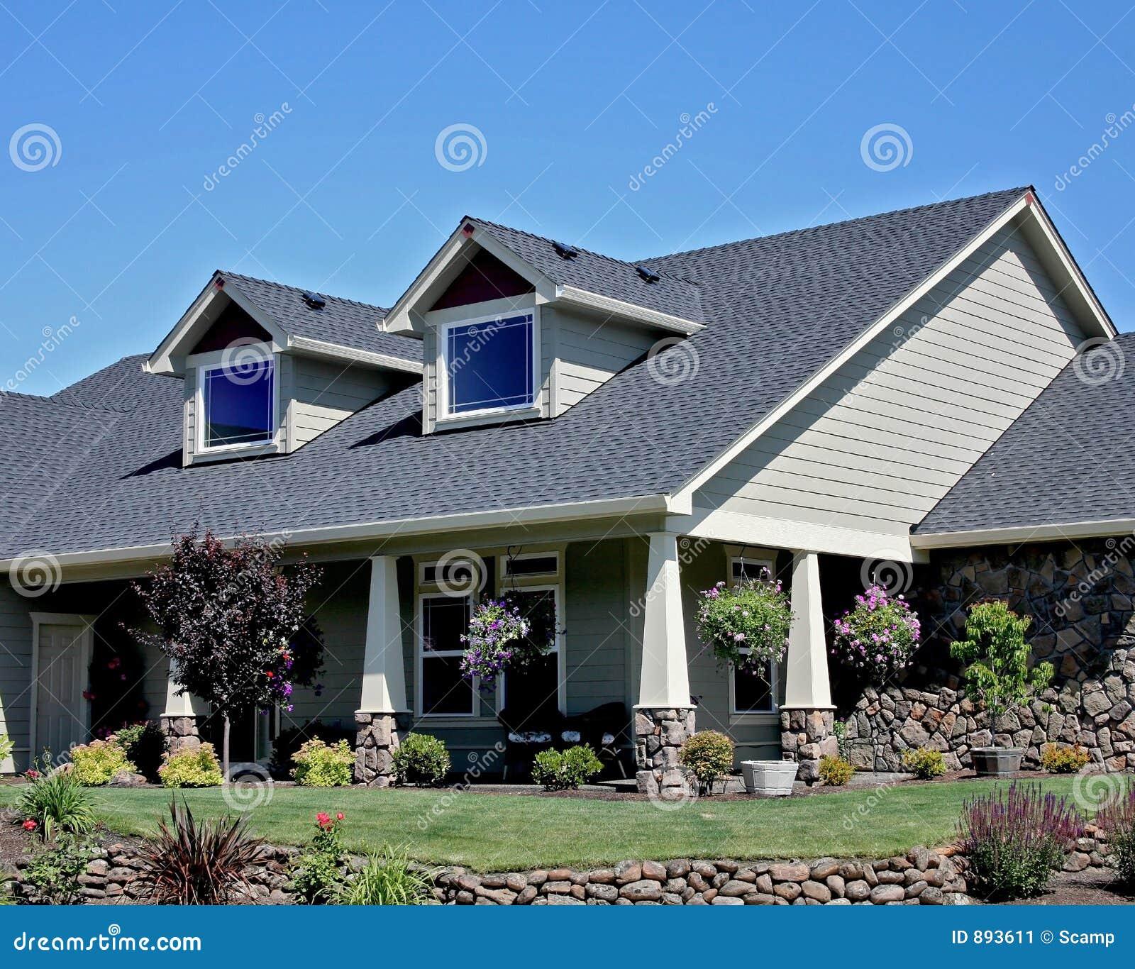 Het amerikaanse huis van de stijl van de vakman stock afbeelding afbeelding 893611 - Huis van de cabriolet ...