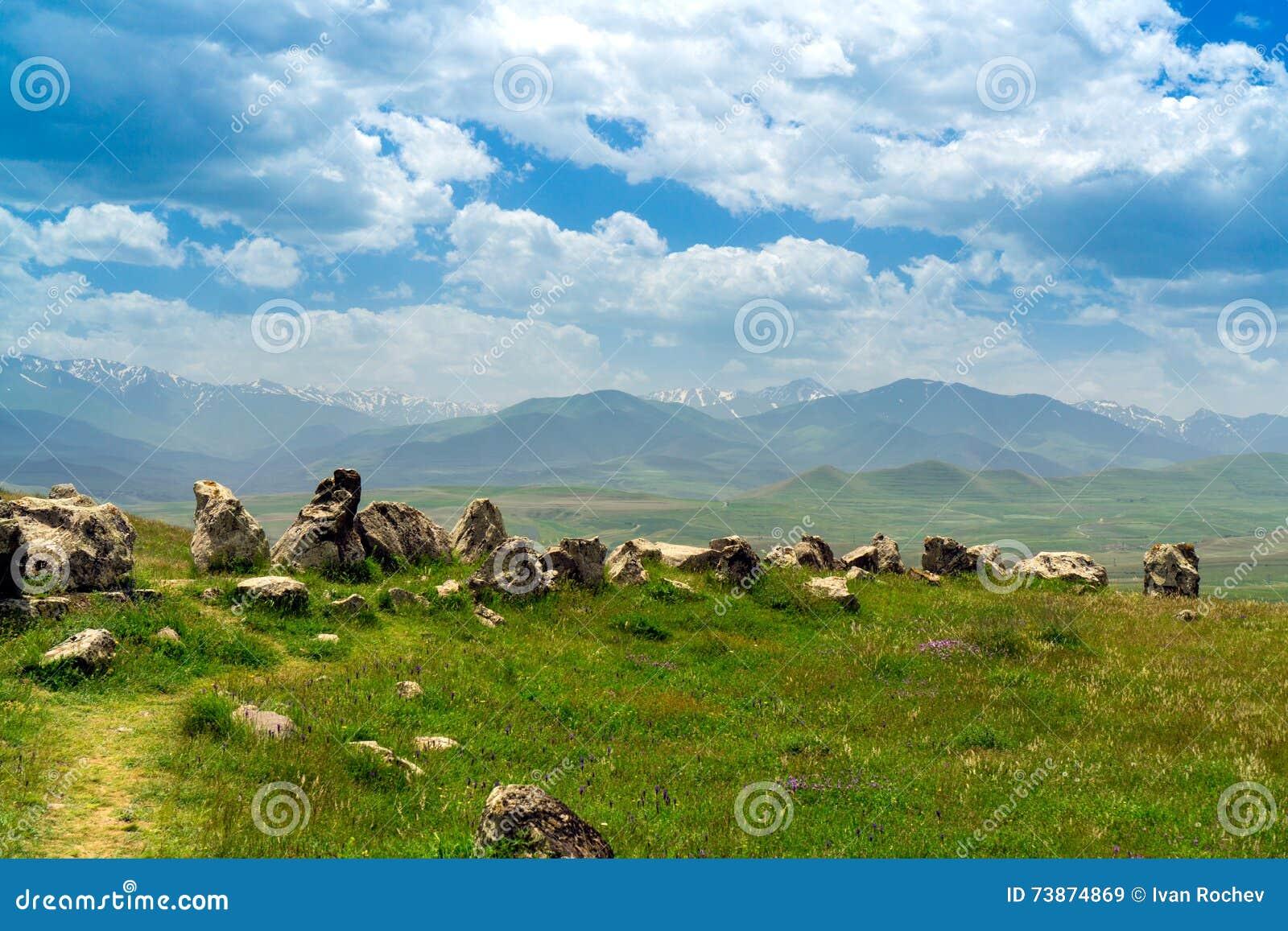 Het Armeense Oude Waarnemingscentrum van Stonehenge Carahunge