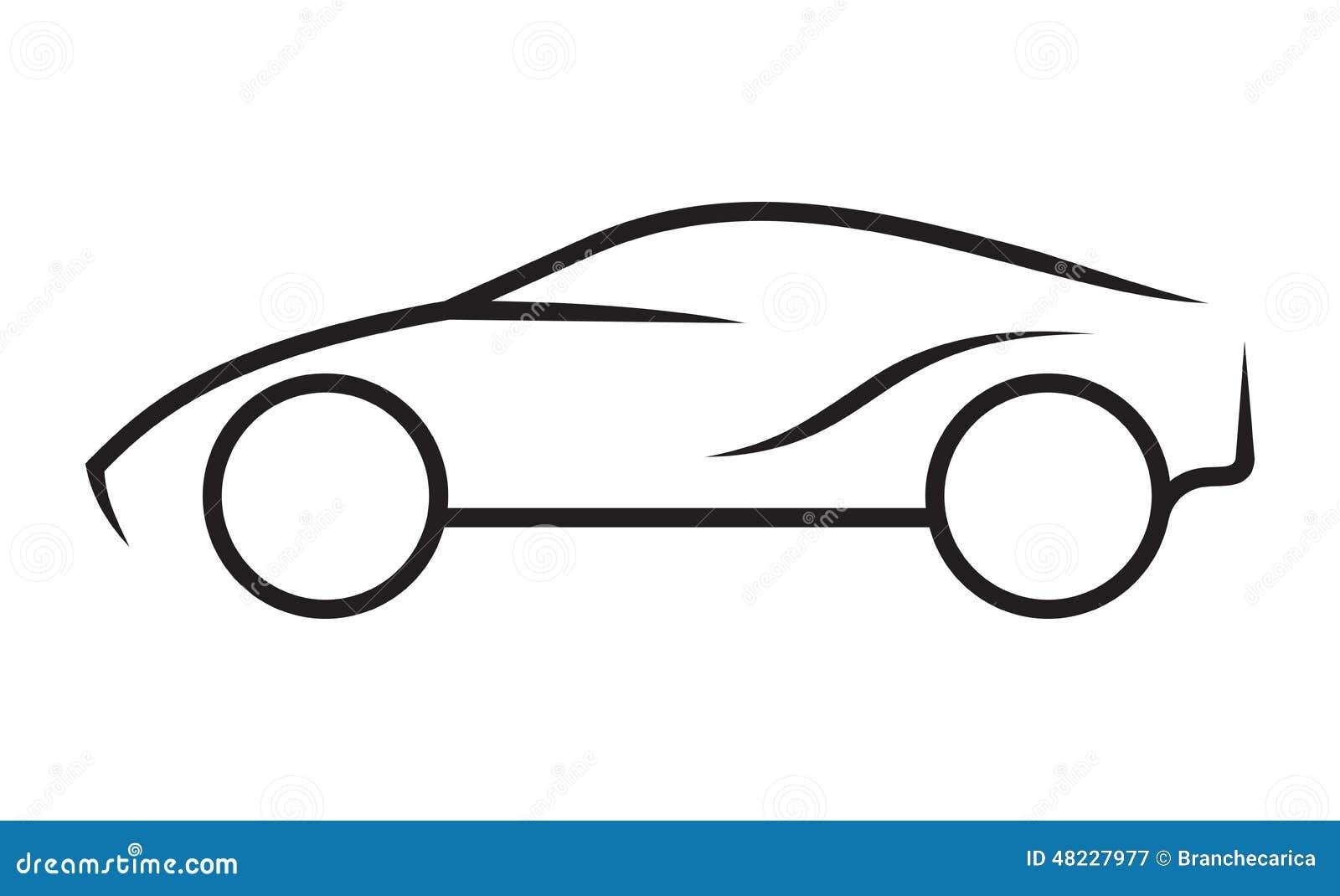 Het Art Van De Autolijn Vector Illustratie Illustratie