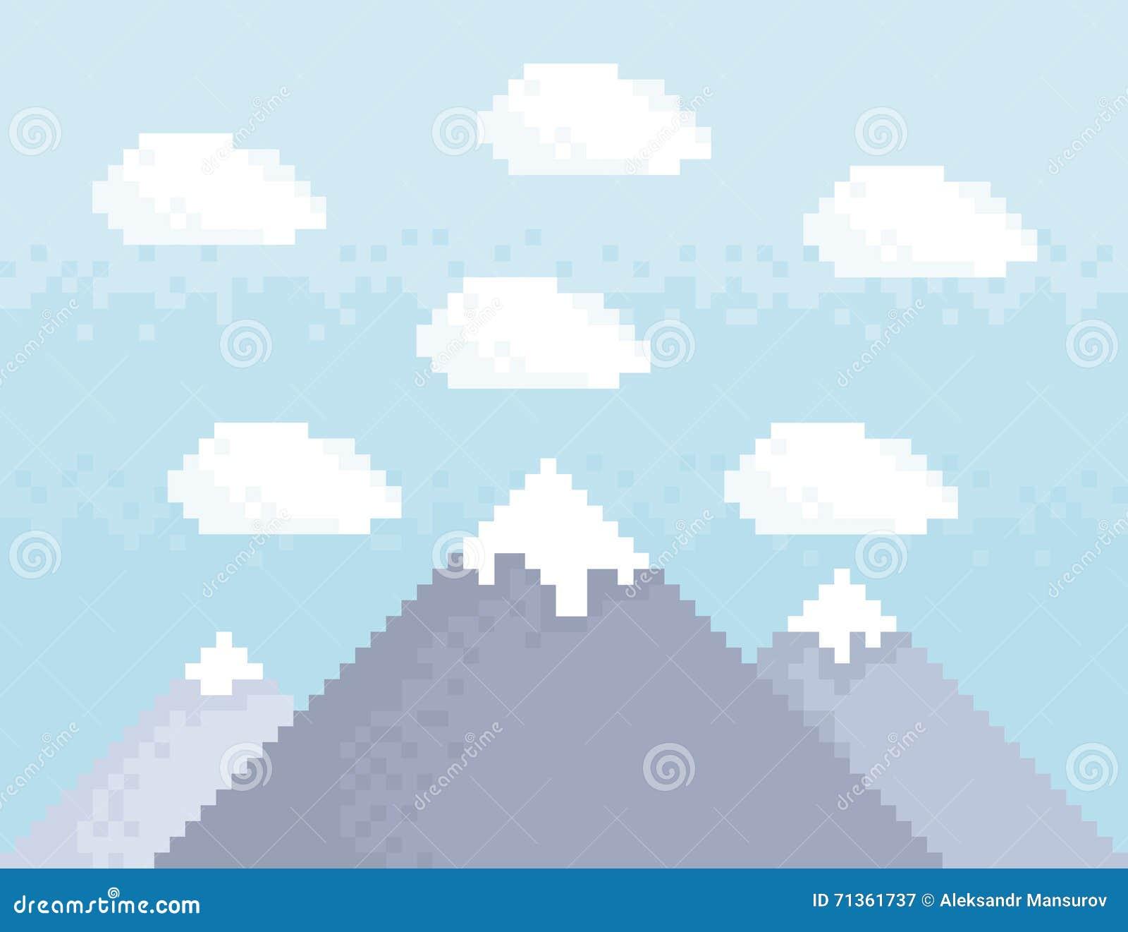 Het art. van het bergpixel