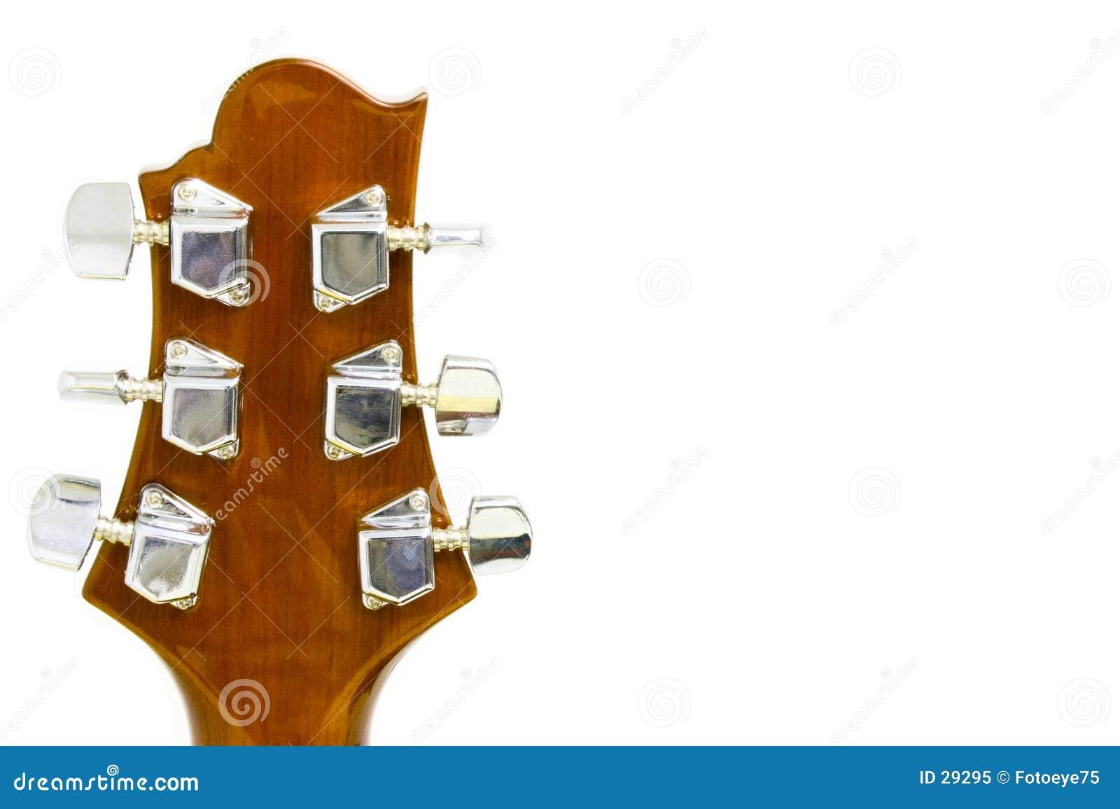 Het asblok van de gitaar