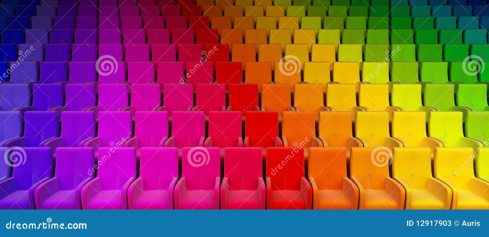 Het auditorium van de regenboog