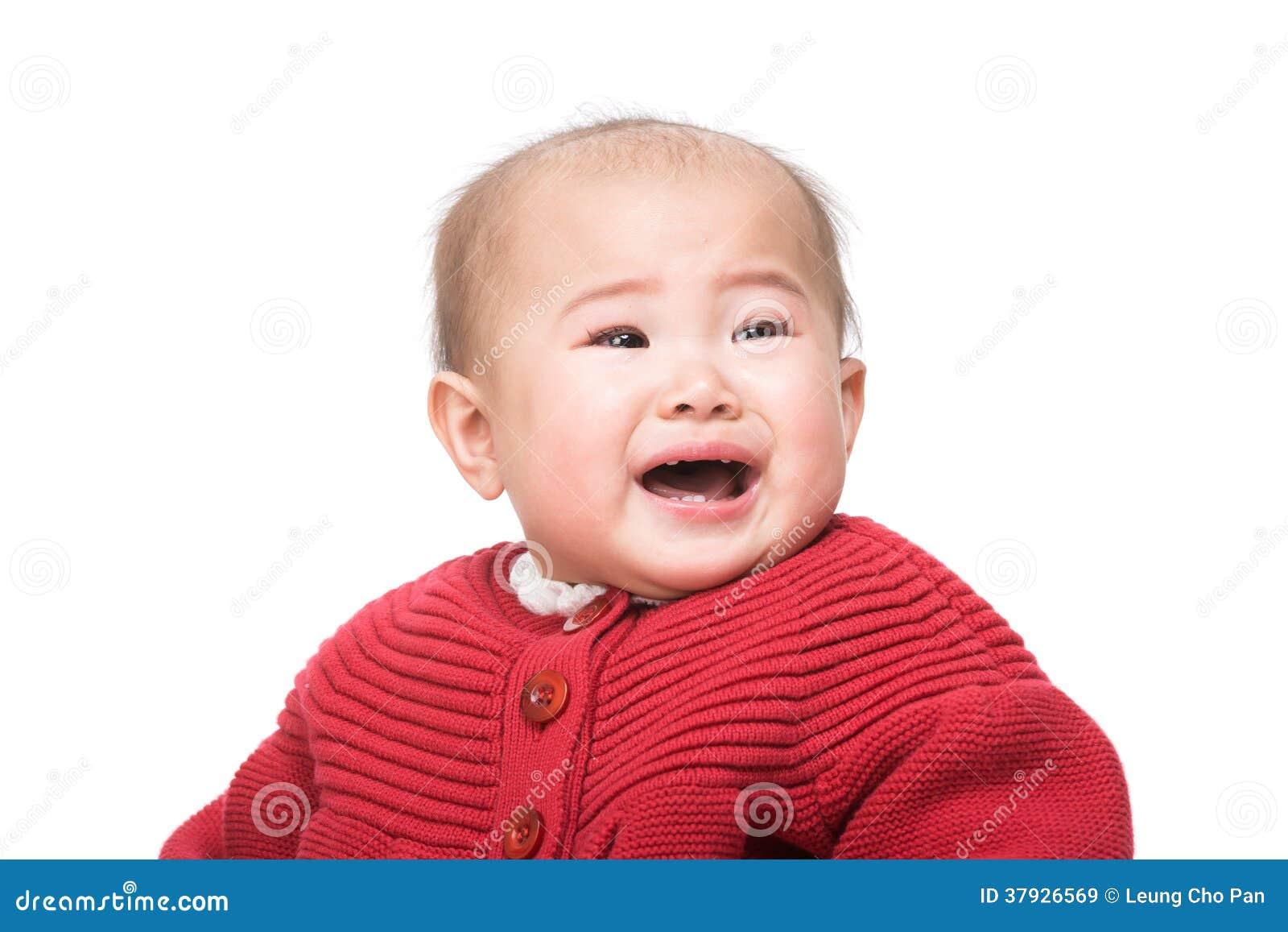 Het Aziatische baby schreeuwen