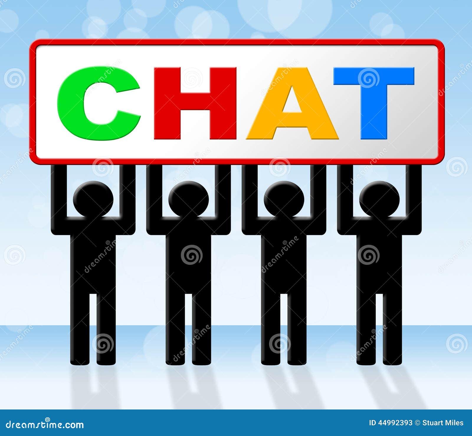 Het babbelen het Praatje betekent Boodschapper Communicating And Call