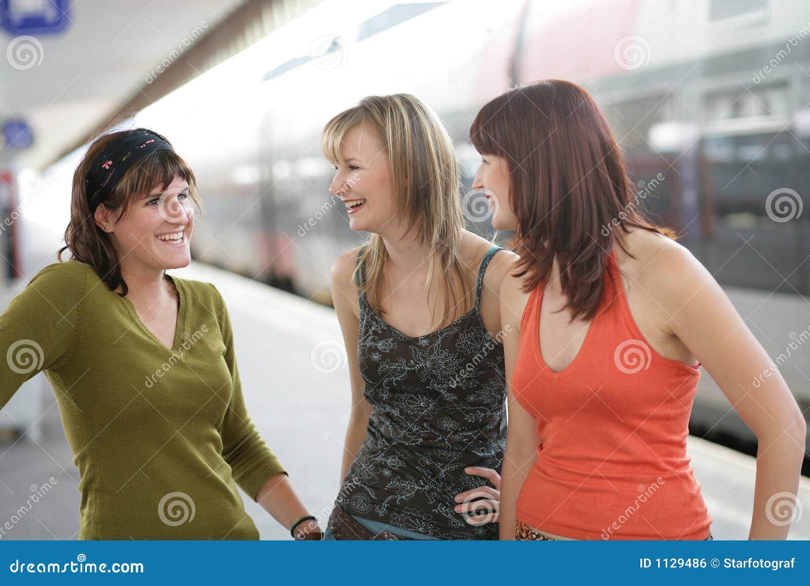 Het babbelen met vrienden