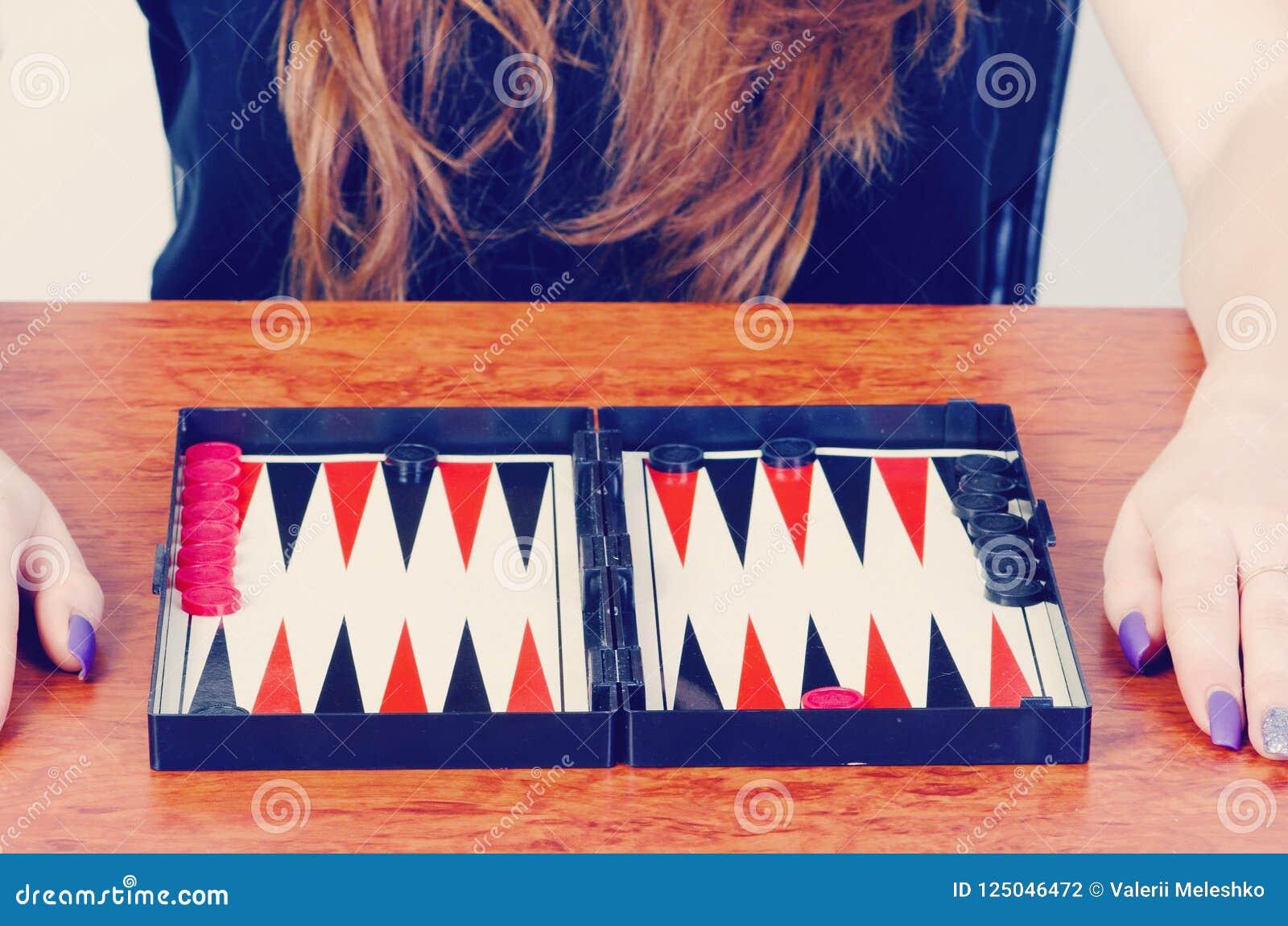 Het backgammon van het raadsspel