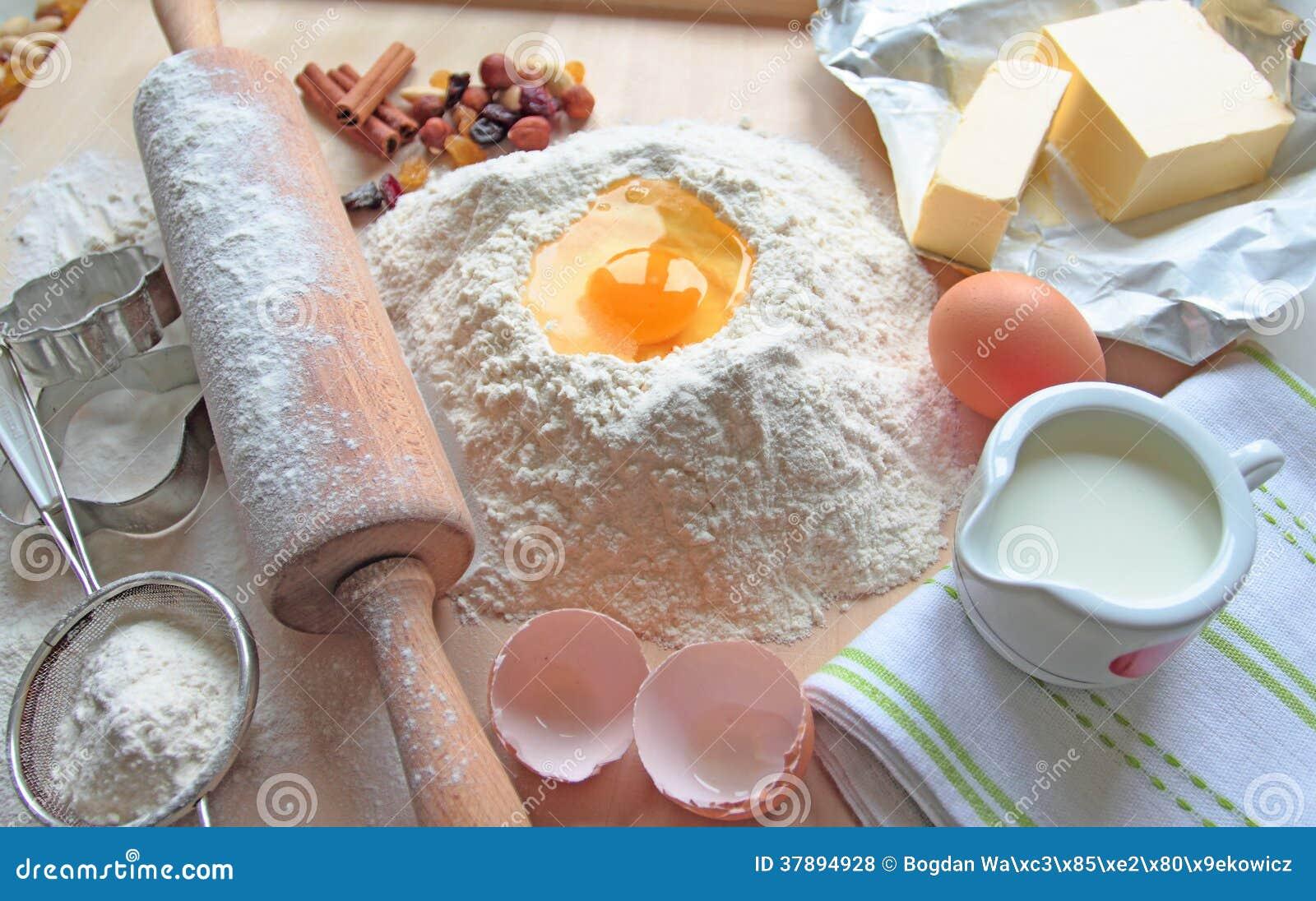 Het bakken in de keuken