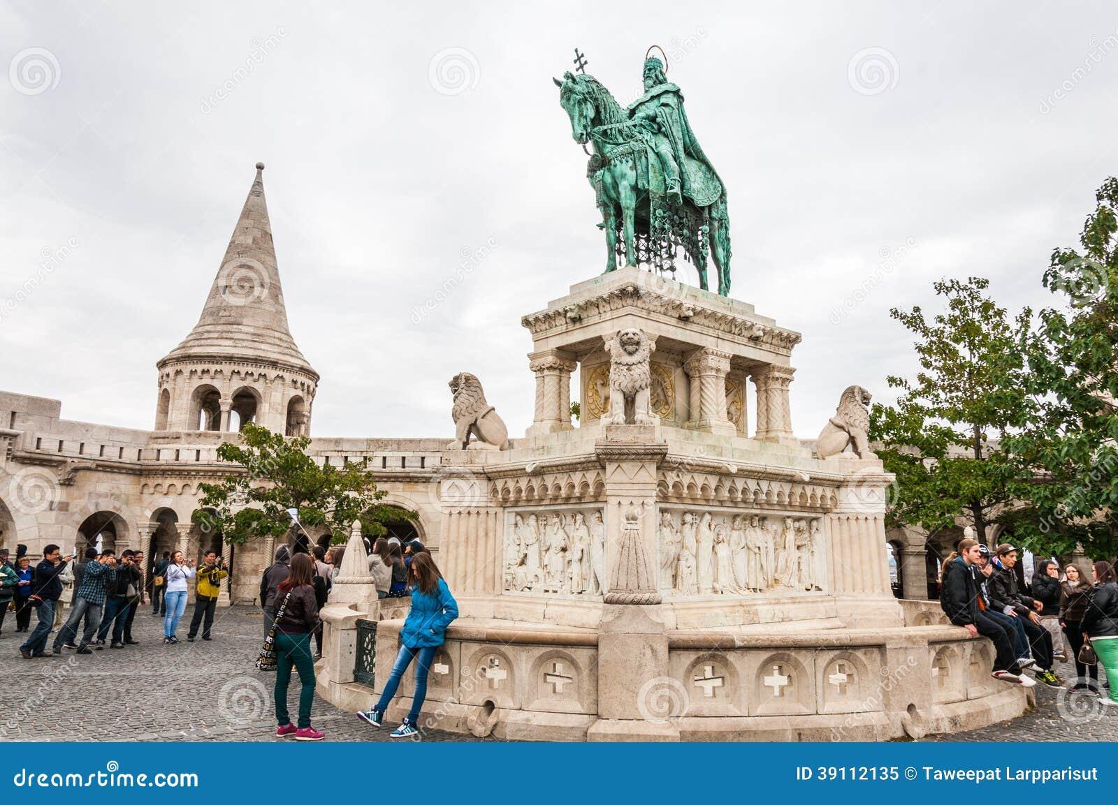 Het bastion van de visser in Boedapest, Hongarije